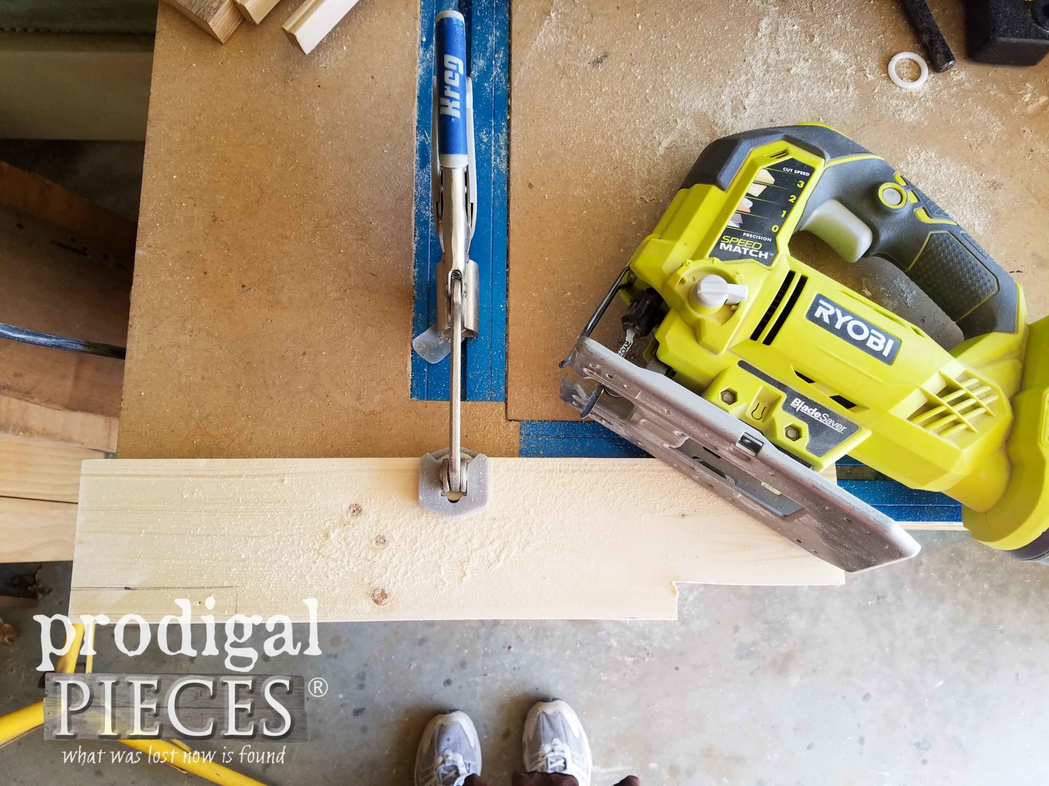 Ryobi Jigsaw and Kreg Automaxx Clamp Track Kit for Woodworking by Prodigal Pieces | prodigalpieces.com