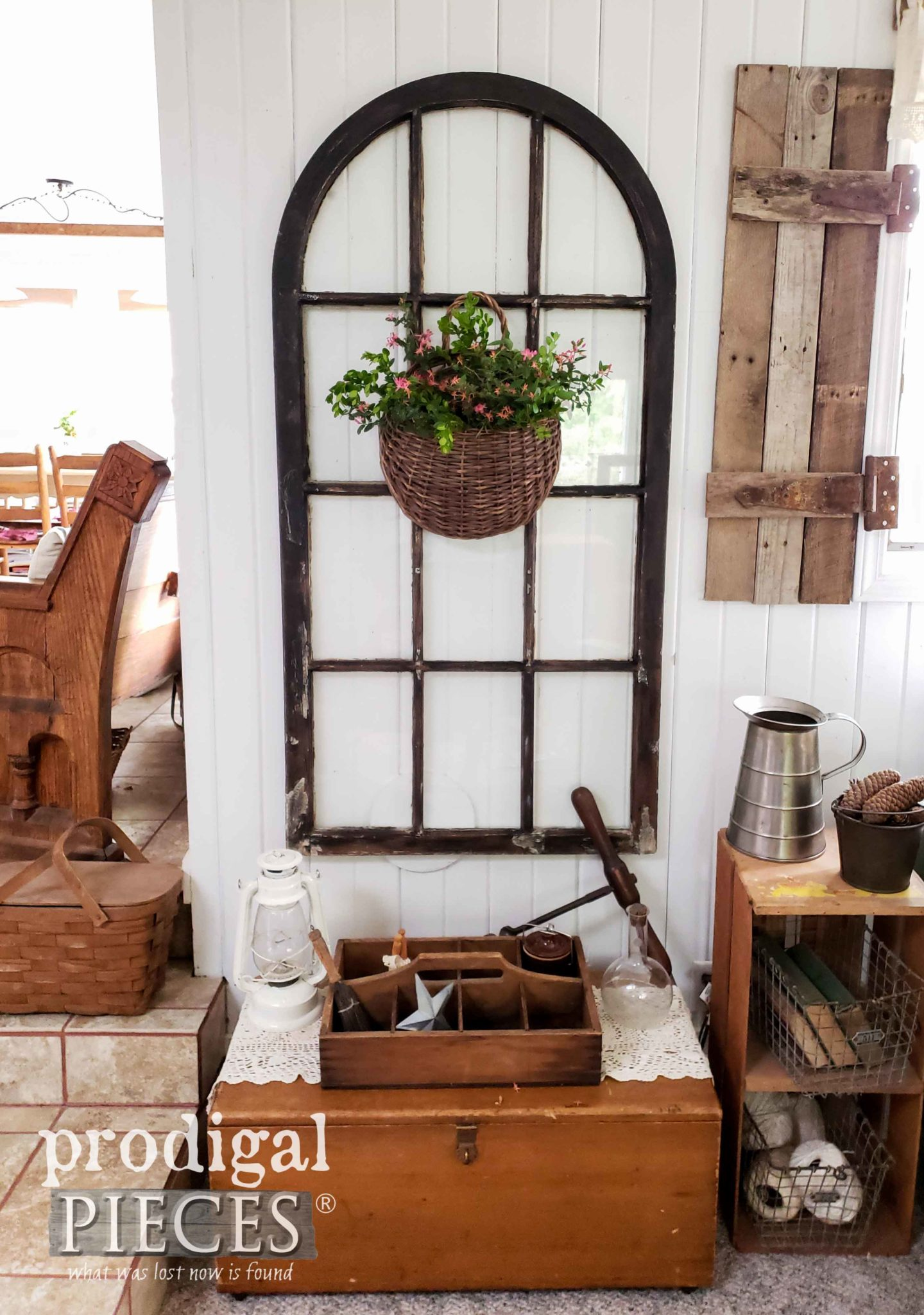 Savaged Arched Window for Farmhouse Decor by Larissa of Prodigal Pieces | prodigalpieces.com