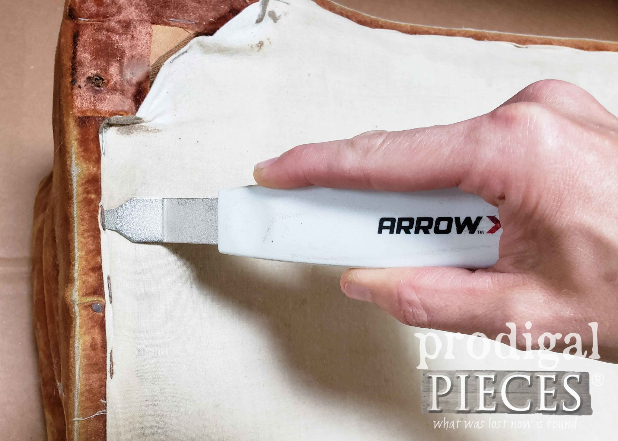 Arrow Staple Puller to Remove Upholstery Staples | prodigalpieces.com