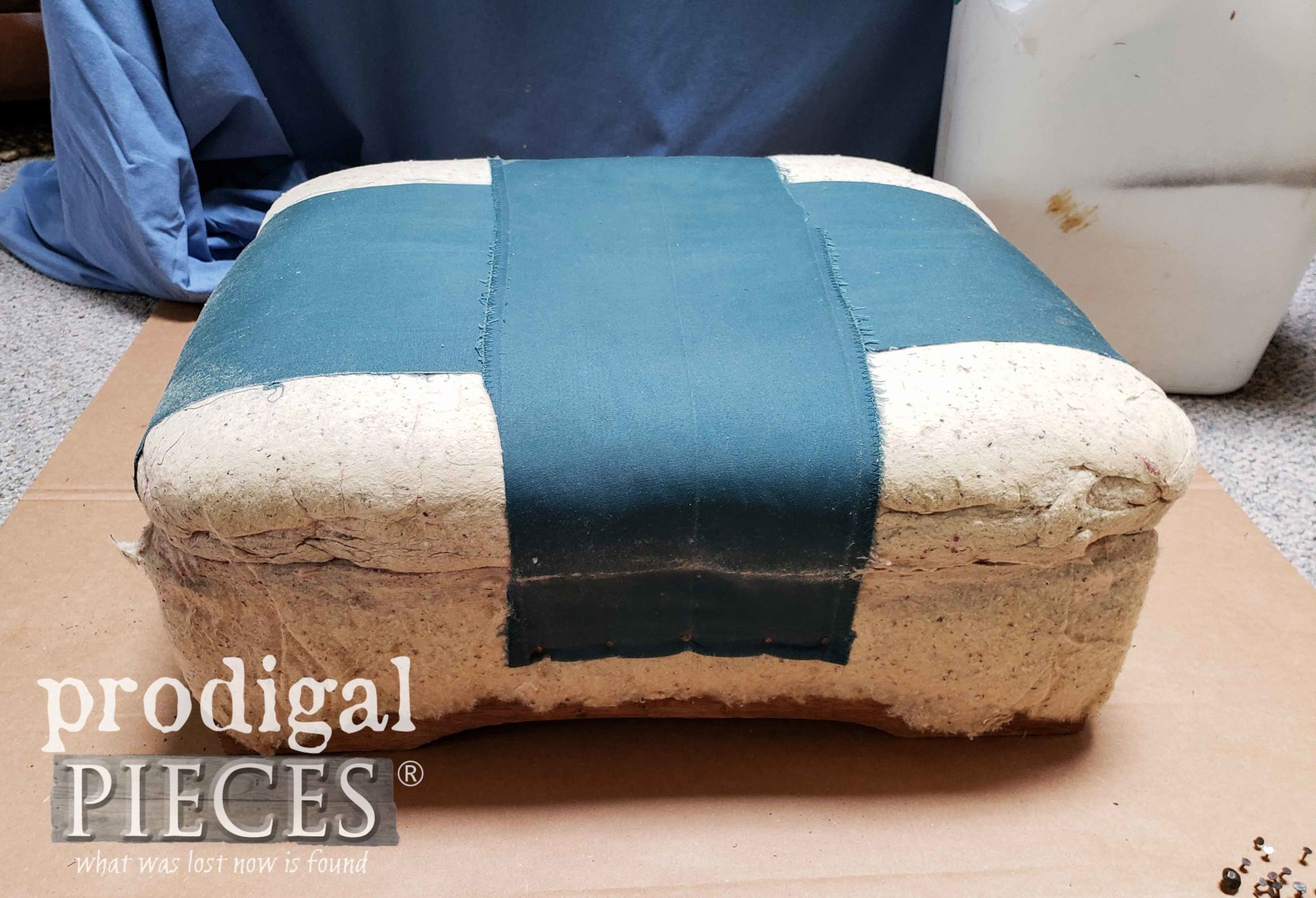 Vintage Ottoman without Upholstery | prodigalpieces.com