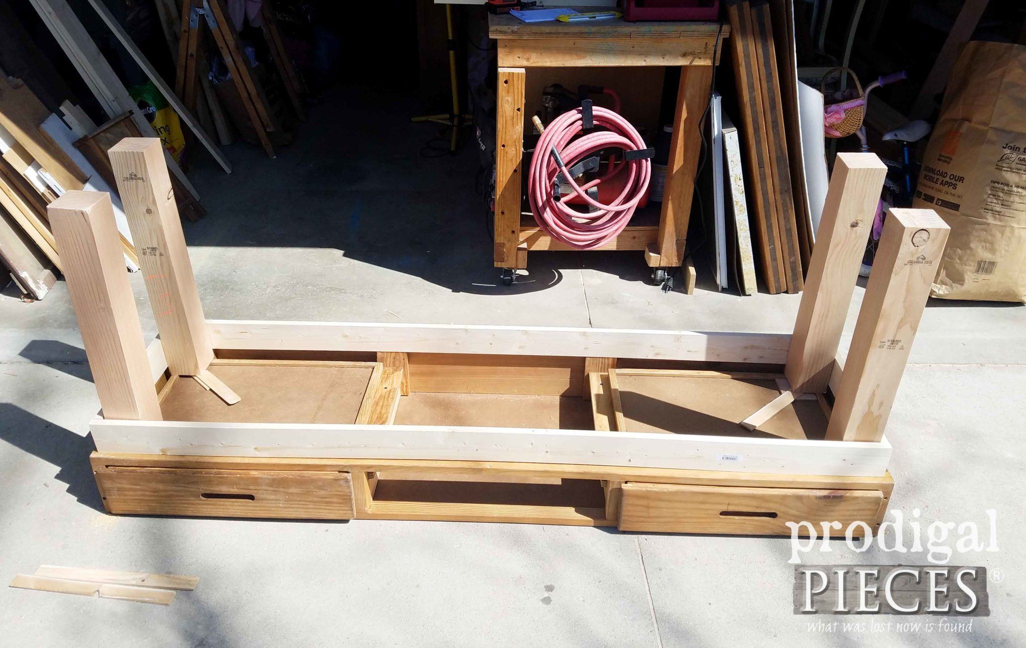 Upside Down Workbench Being Built by Larissa of Prodigal Pieces | prodigalpieces.com