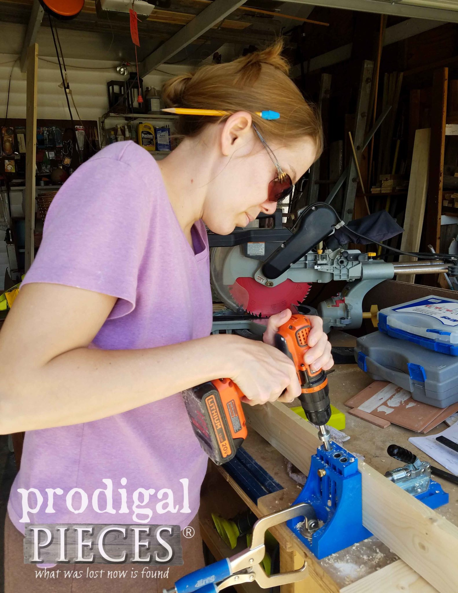 Using Kreg Pocket Hole Jig to Create Workbench Skirt by Prodigal Pieces | prodigalpieces.com
