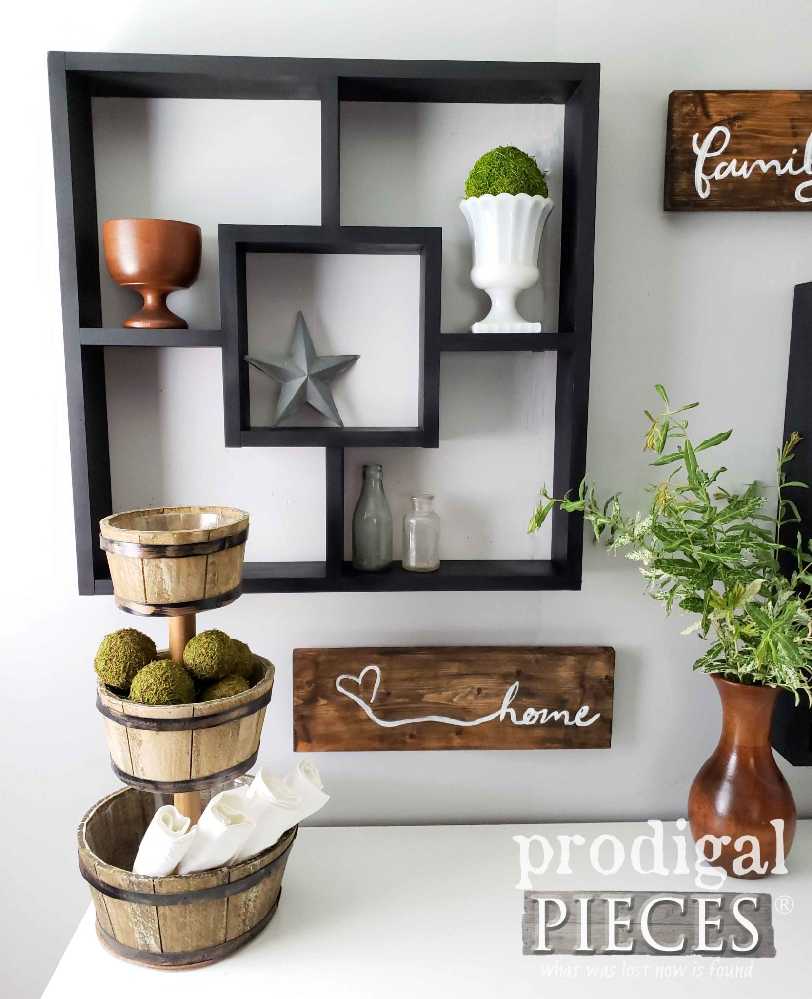 Black Farmhouse Shadow Box ~ Custom Color Available by Prodigal Pieces | prodigalpieces.com