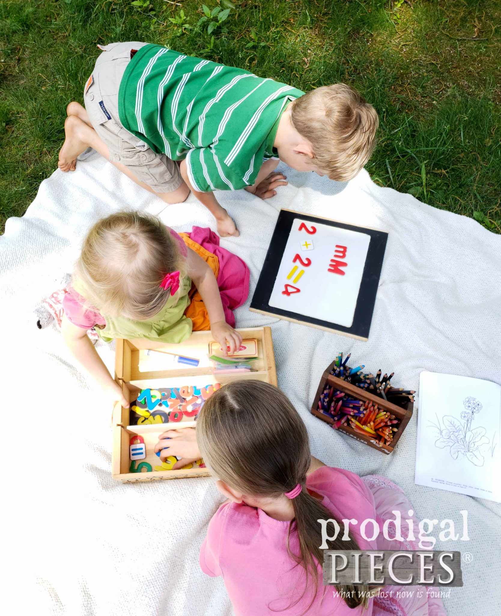 Creative Kid Learning with this Upcycled Wine Crate by Prodigal Pieces | prodigalpieces.com