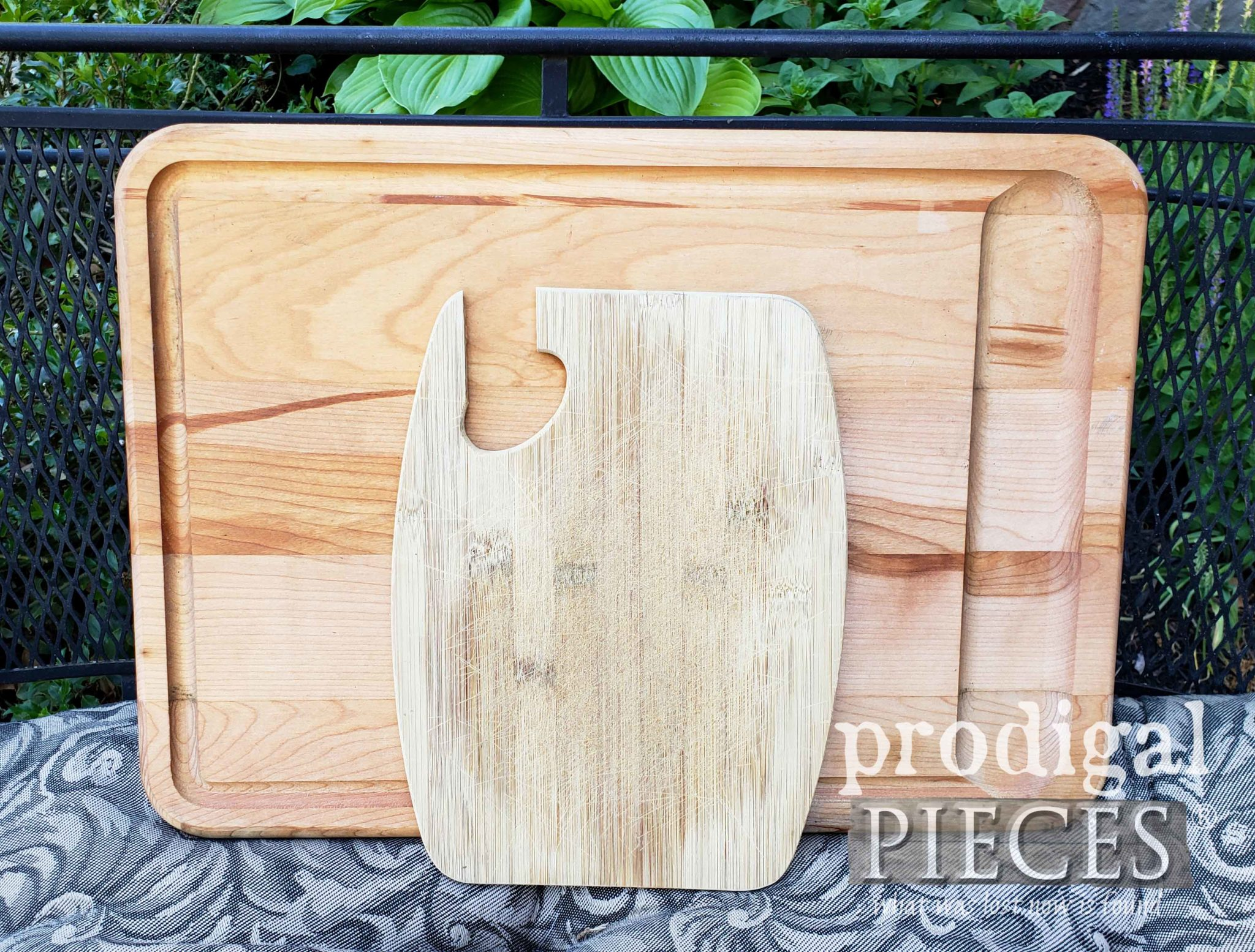 Worn Out Cutting Board about to get new life | prodigalpieces.com
