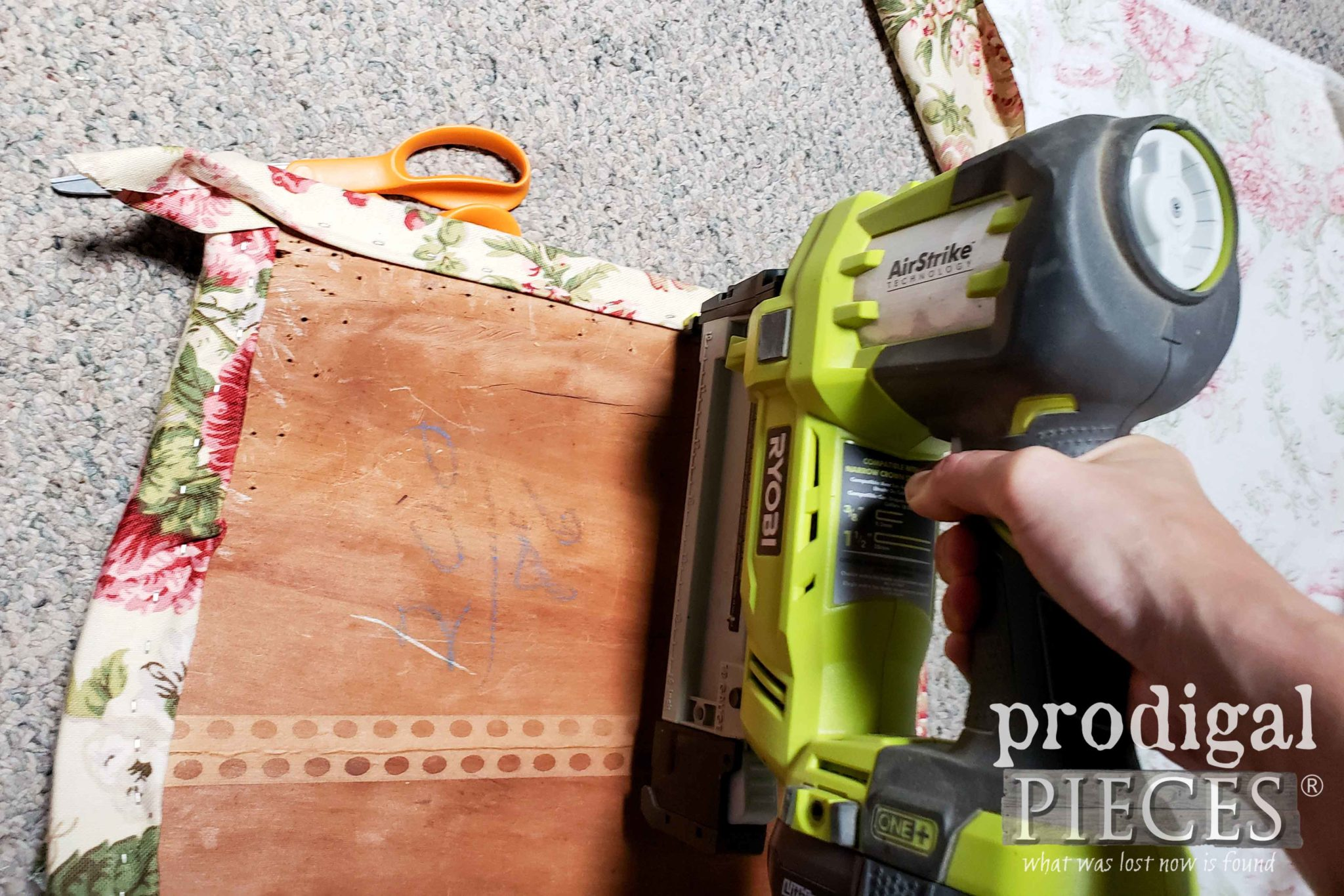 Upholstery Work with Ryboi AirStrike Stapler by Larissa of Prodigal Pieces | prodigalpieces.com