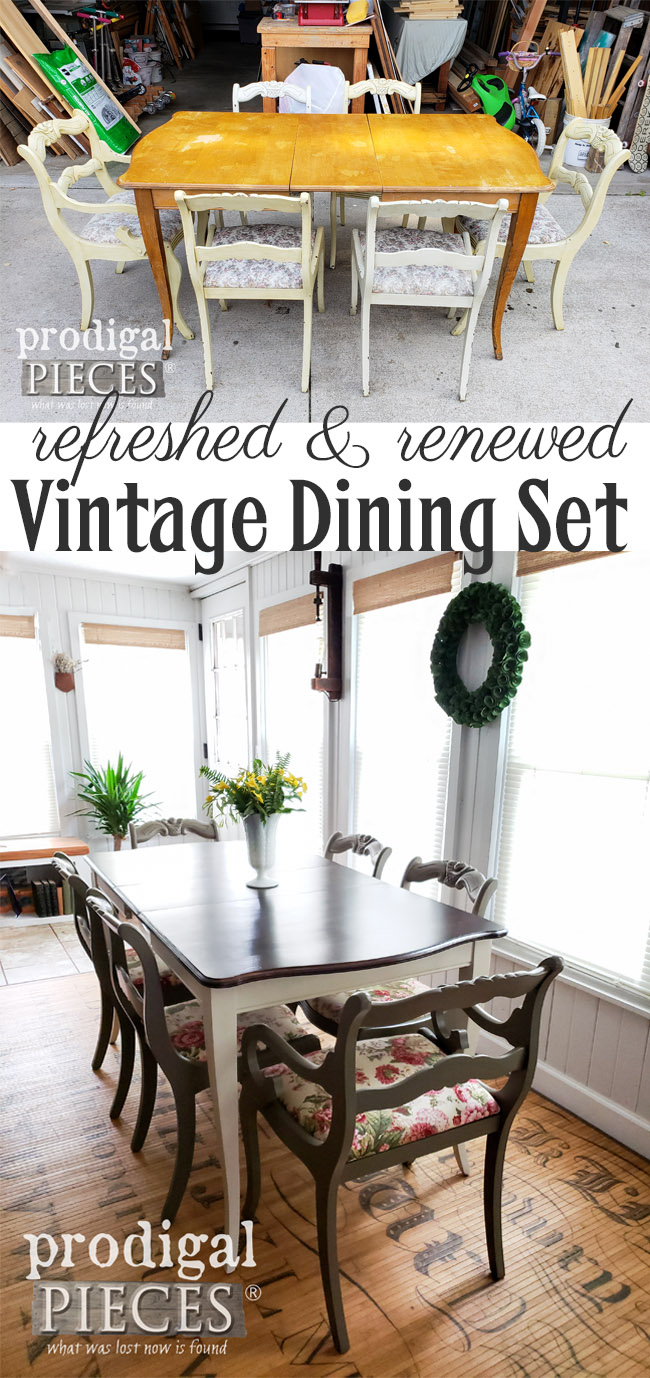 Grab those curbside finds and give them a new look with your HomeRight Super Finish Max Paint Sprayer. This dining set makeover is one to see by Larissa of Prodigal Pieces | prodigalpieces.com