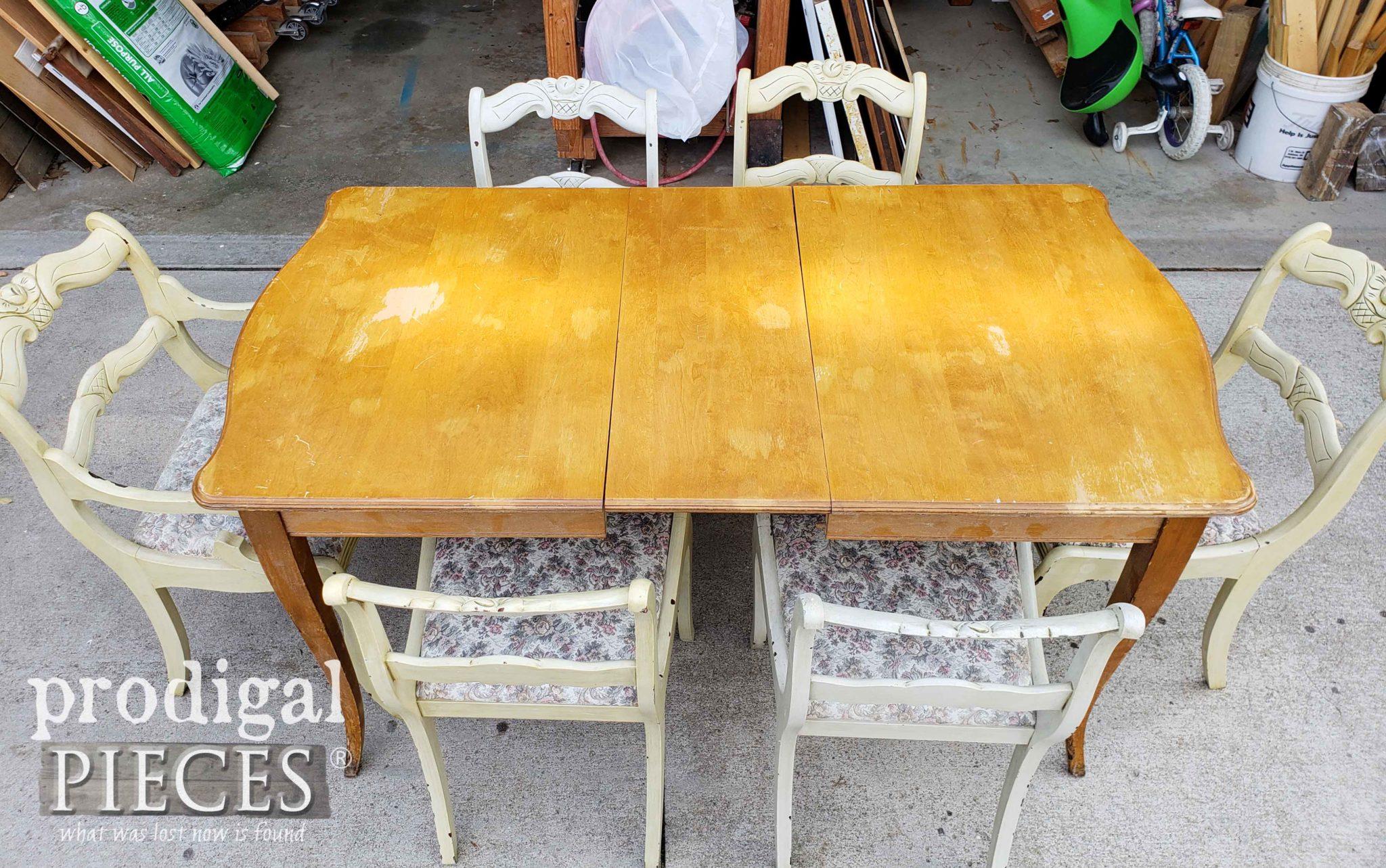 Damaged Dining Table Top | prodigalpieces.com
