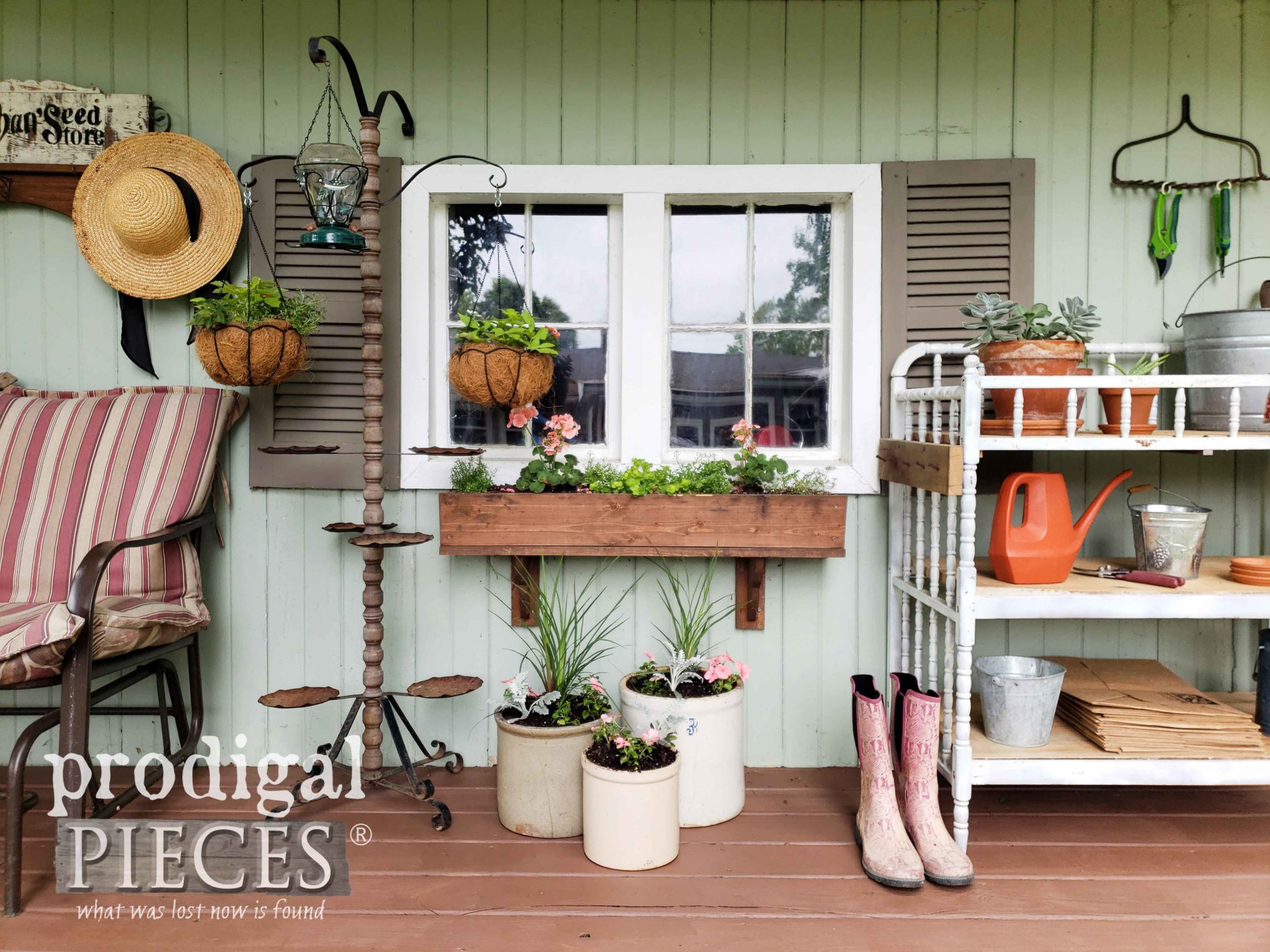 DIY Spring Garden Shed Update and Makeover by Larissa of Prodigal Pieces | prodigalpieces.com