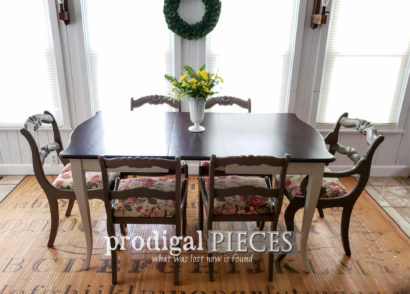Featured Vintage Dining Set Makeover by Larissa of Prodigal Pieces | prodigalpieces.com