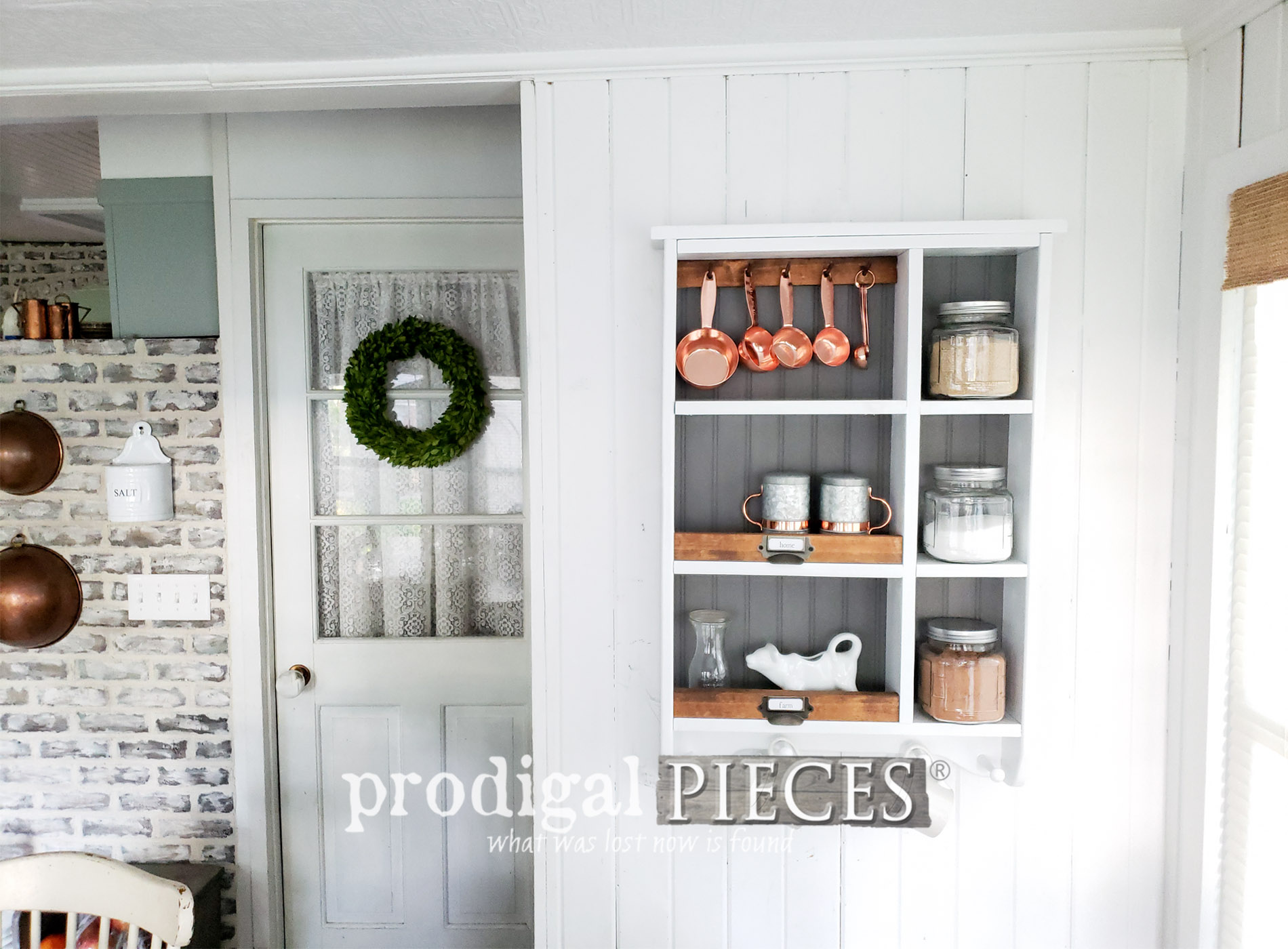 Featured Farmhouse Kitchen Cubby by Larissa of Prodigal Pieces | prodigalpieces.com