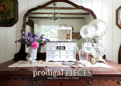 Featured Mini Dresser Makeover ~ Musical Jewelry Box Fun by Prodigal Pieces | prodigalpieces.com