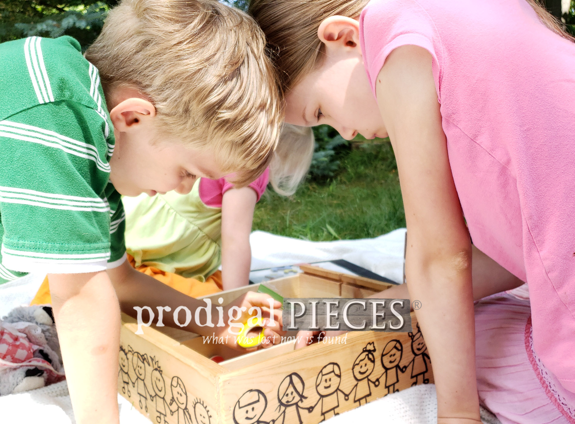 Featured Upcycled Wine Crate Turned into Fun Learning Center for Kids by Larissa of Prodigal Pieces | prodigalpieces.com