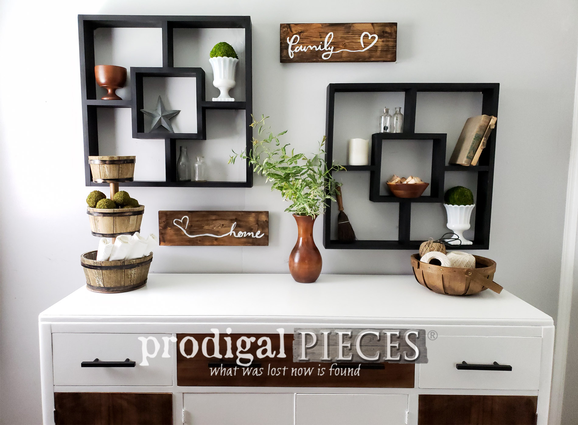 Featured Vintage Art Deco Buffet Gets Modern Farmhouse Makeover by Larissa of Prodigal Pieces | prodigalpieces.com