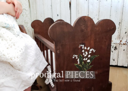 Featured Wooden Doll Cradle Given Farmhouse Style | prodigalpieces.com
