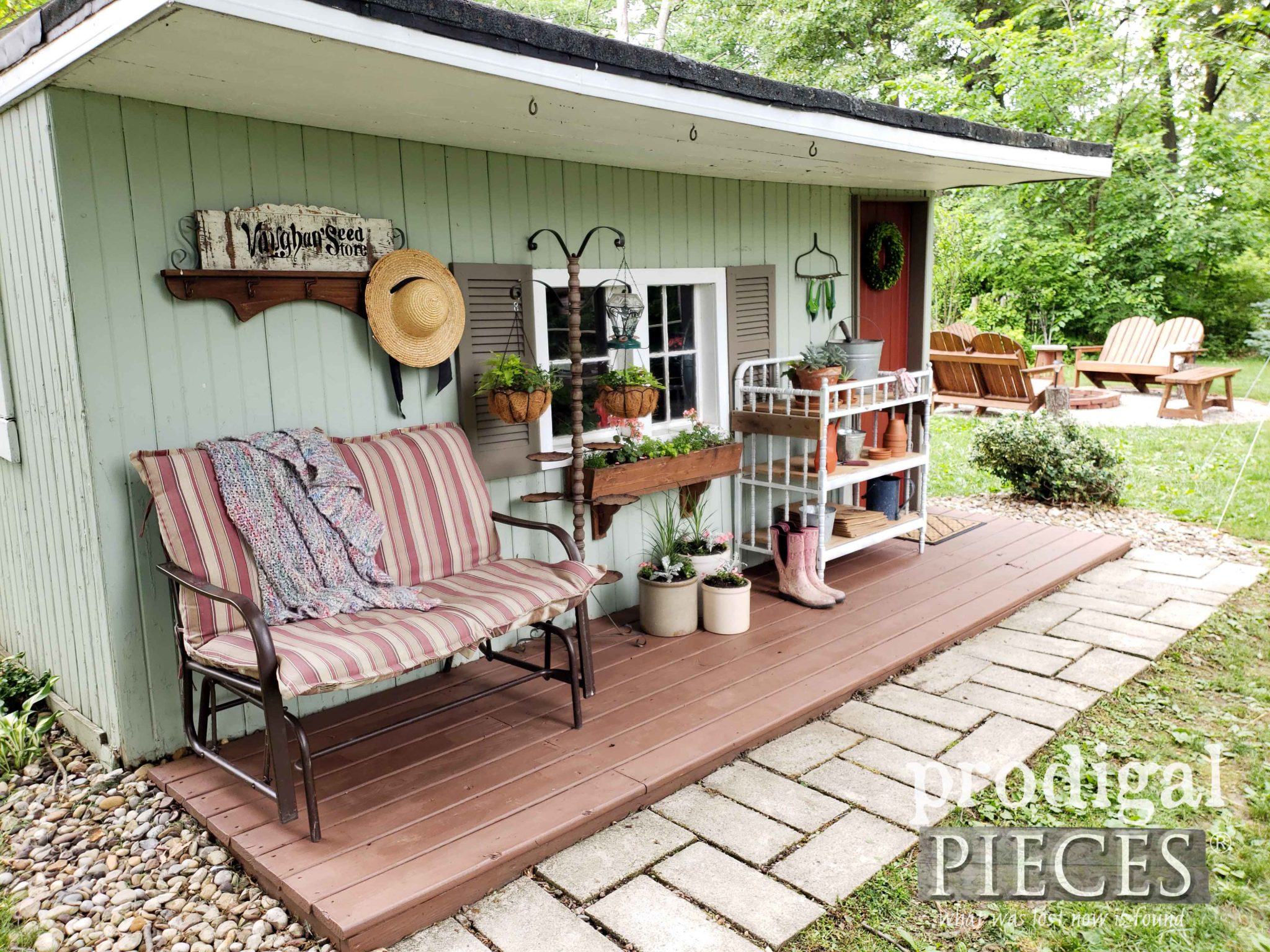 Updated Garden Shed with DIY Fire Pit by Larissa of Prodigal Pieces | prodigalpieces.com