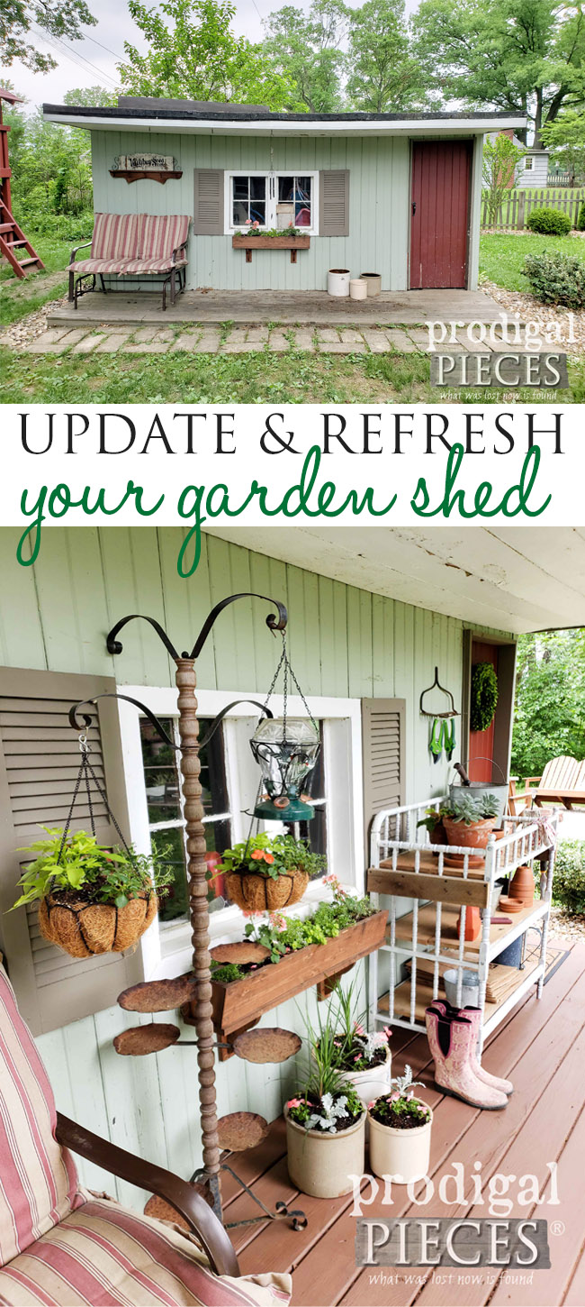 What A Fabulous Update To This Worn Down Garden Shed. With A Bit Of DIY