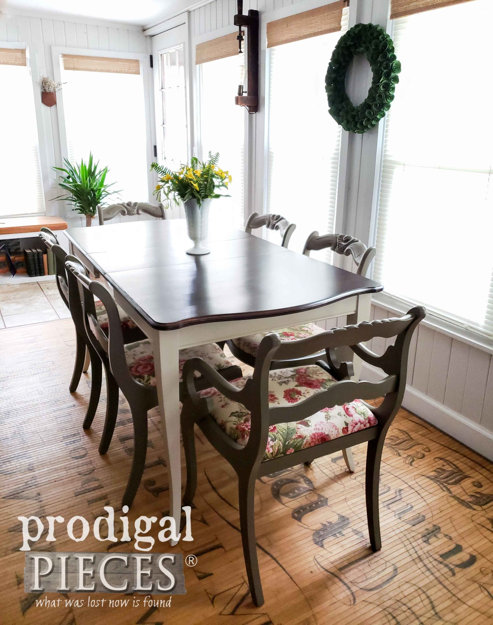 Absolutely beautiful Mid Century Modern Dining Set Made New by Larissa of Prodigal Pieces | prodigapieces.com
