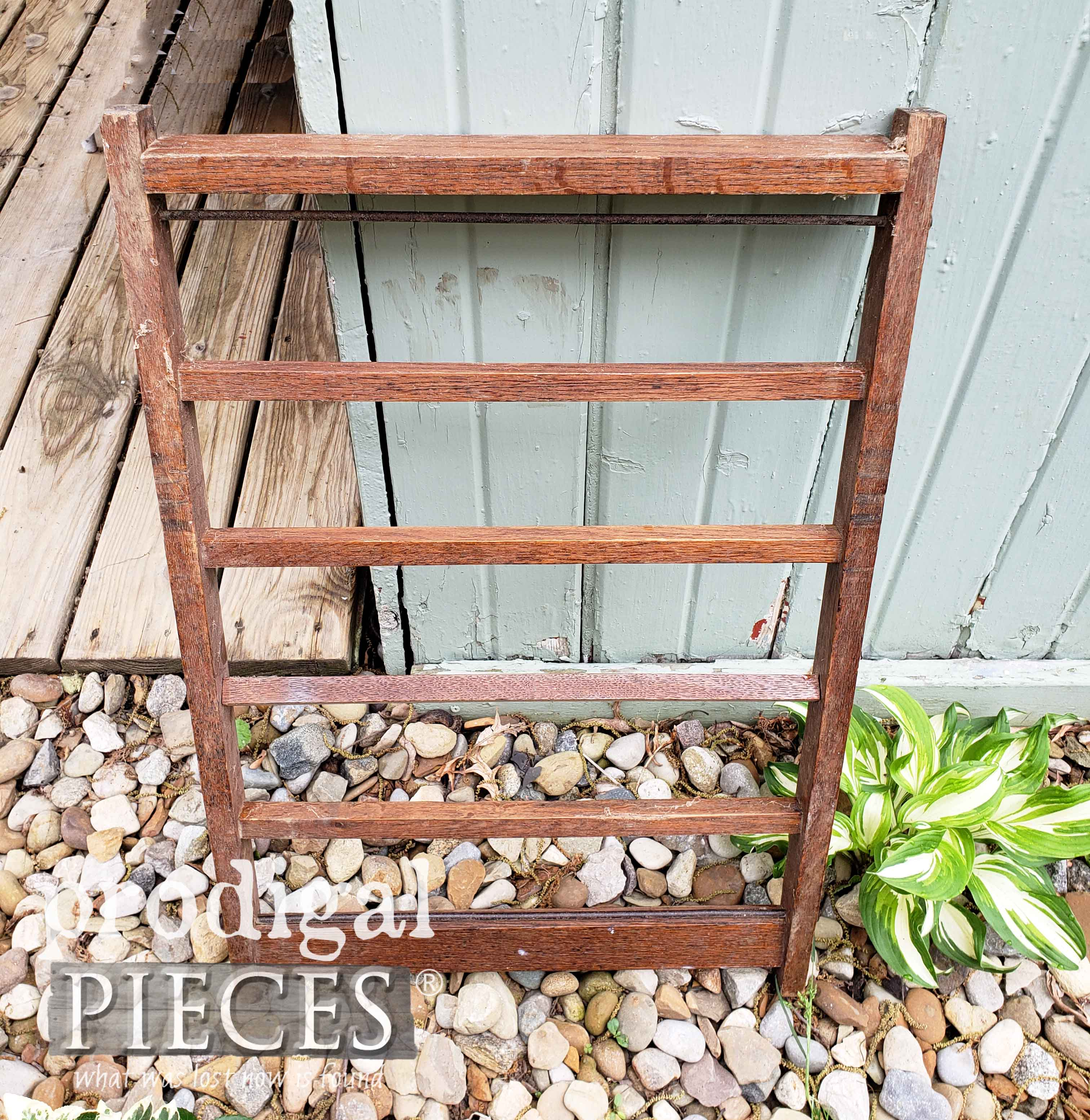 Antique Morris Rocking Chair Back Repurposed by Prodigal Pieces | prodigalpieces.com