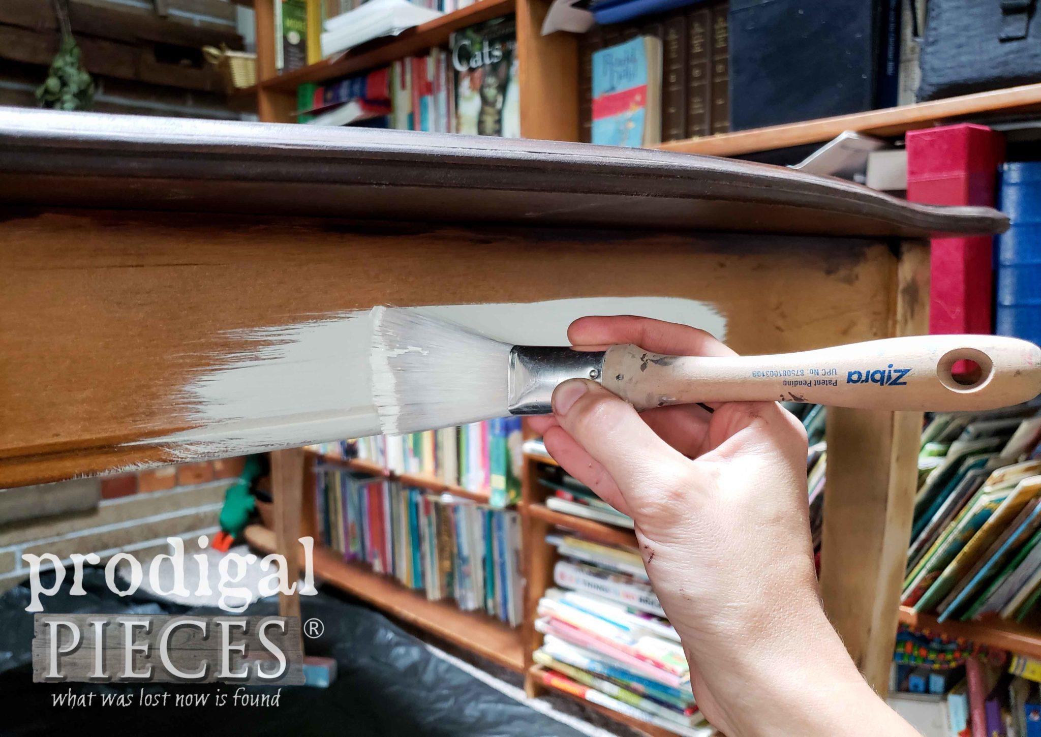Zibra Fan Paint Brush to Paint Dining Table by Prodigal Pieces | prodigalpieces.com