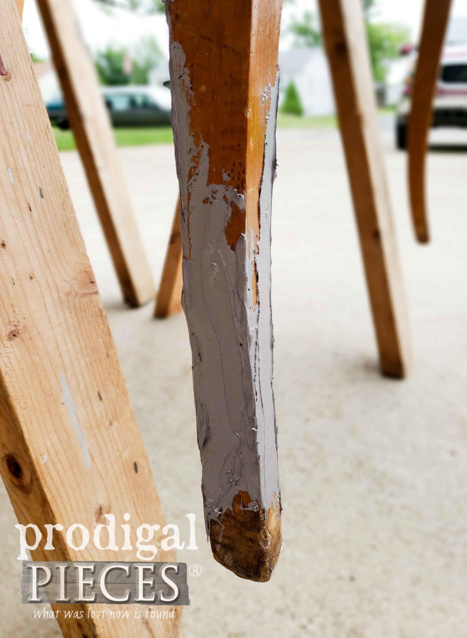 Bondo Repaired Table Leg | prodigalpieces.com
