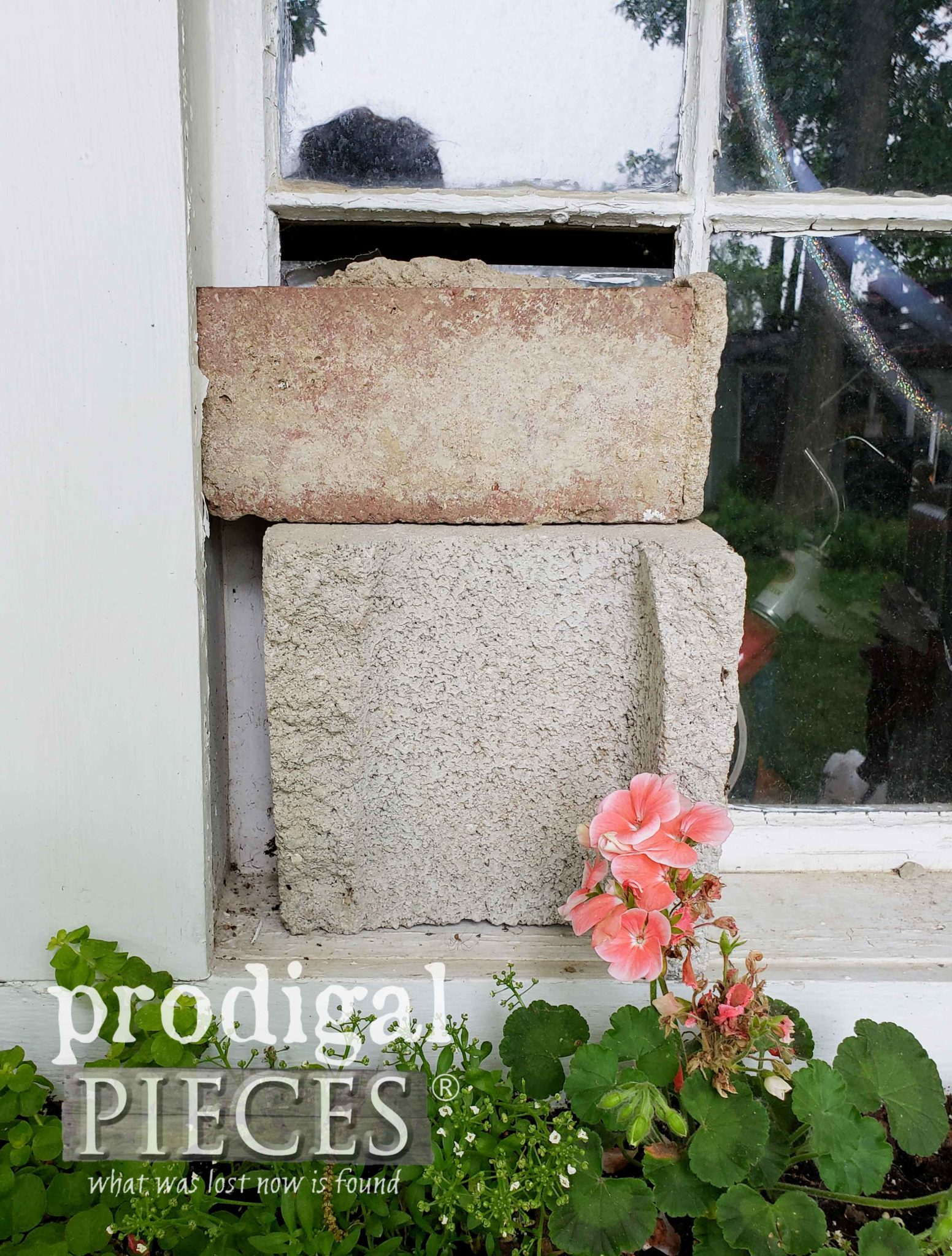Bricks Covering Broken Window | prodigalpieces.com