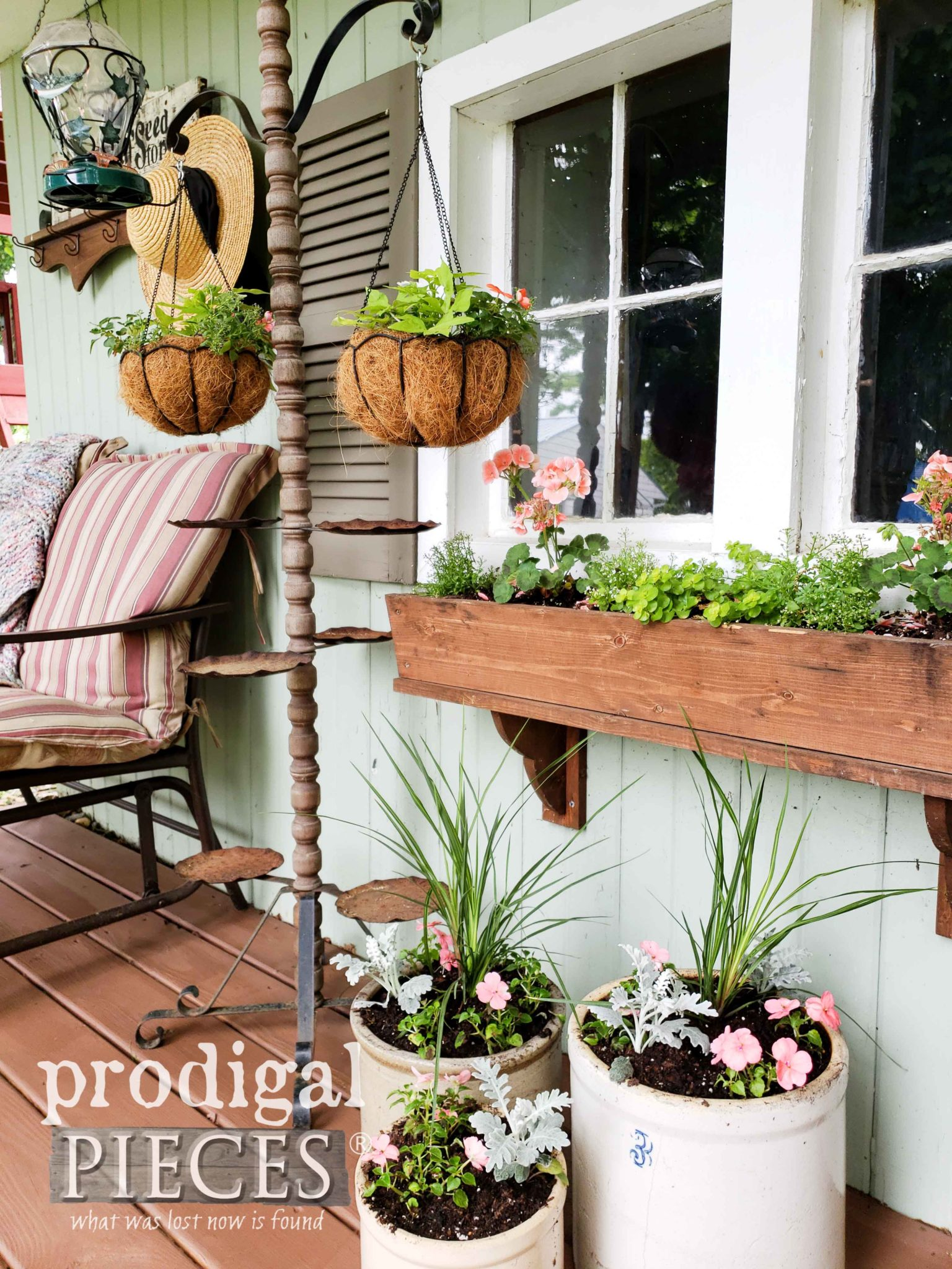 Upcycled Spring Garden Shed Decor by Larissa of Prodigal Pieces | prodigalpieces.com