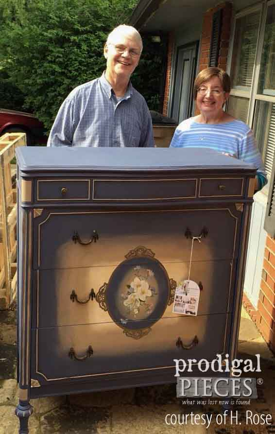Stevens Family Receiving Finding Home Chest of Drawers Donated by The Haynes' Family for the Finding Home Program by Prodigal Pieces | prodigalpieces.com