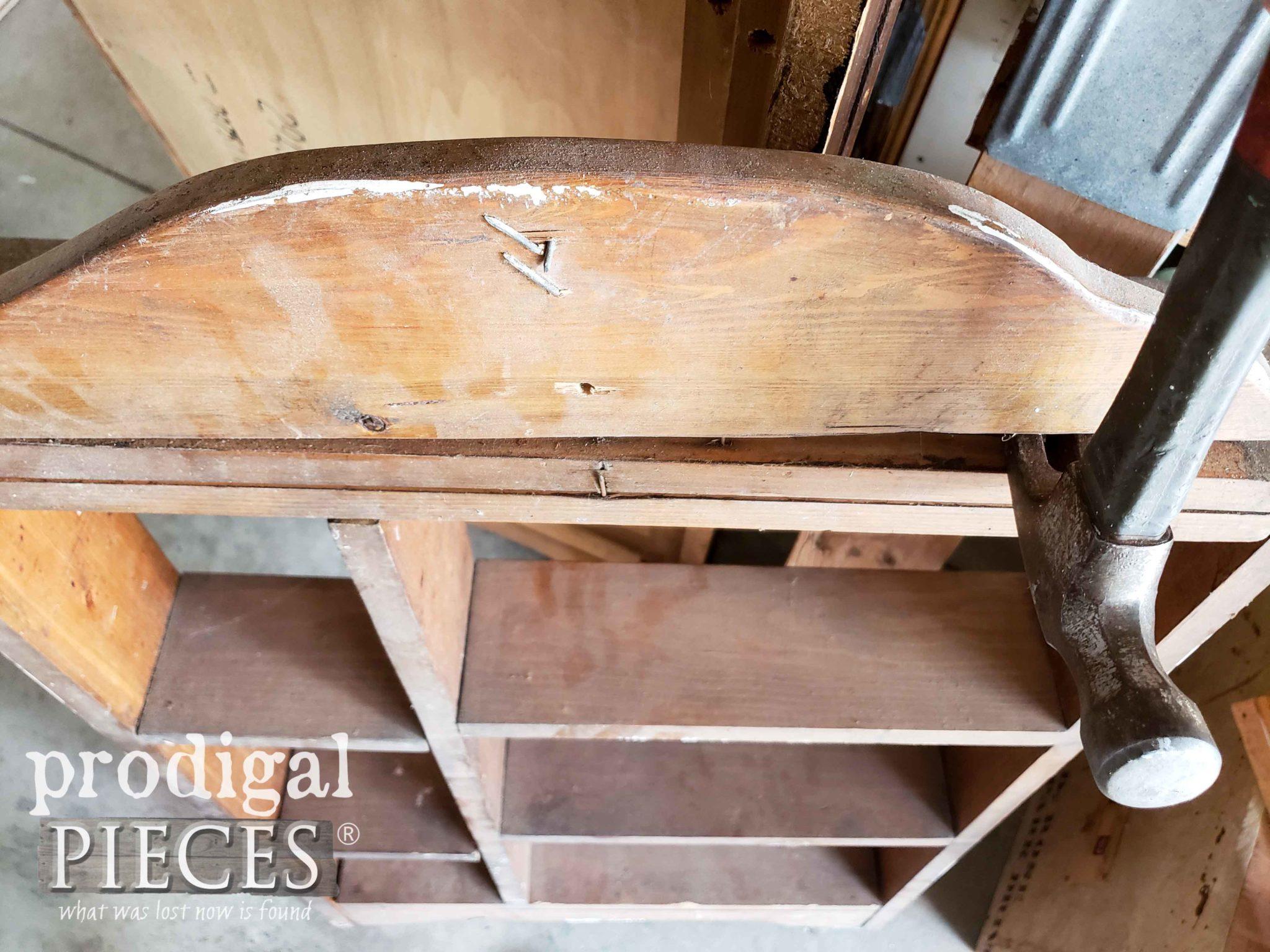 Tearing Handmade Shelf Apart | prodigalpieces.com