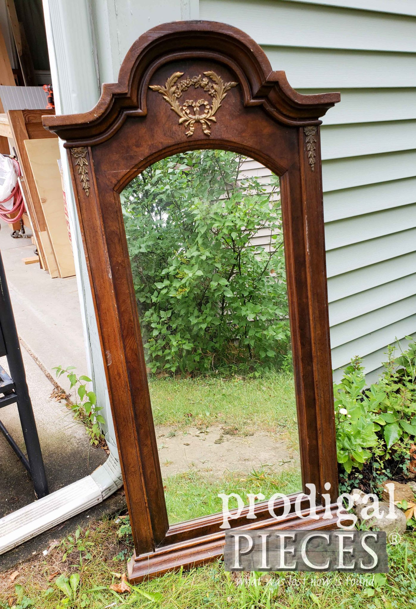 Curbside Dresser Mirror Before Makeover by Prodigal Pieces | prodigalpieces.com