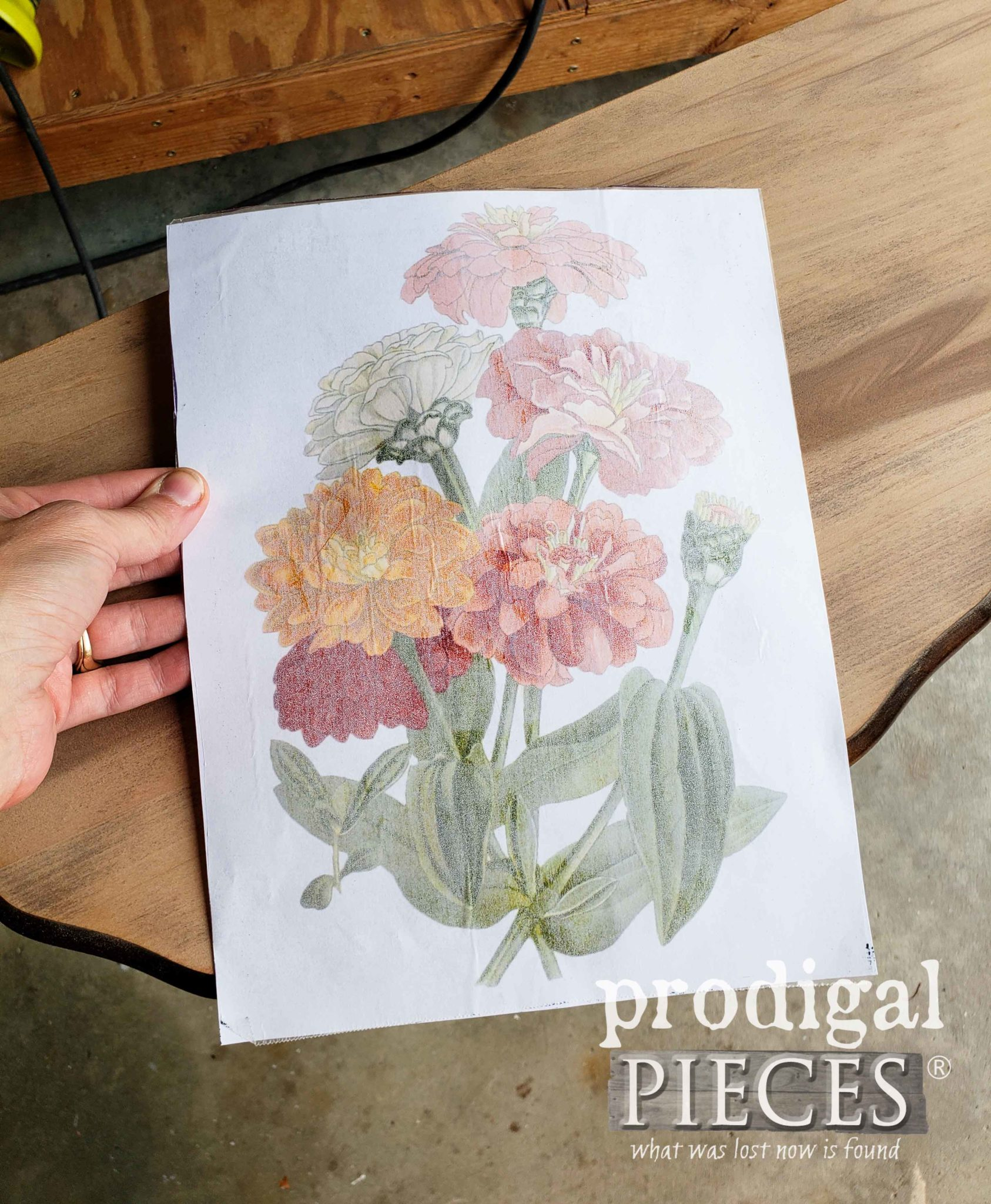 DIY Image Transfer to Wood with Wax Paper by Prodigal Pieces | prodigalpieces.com
