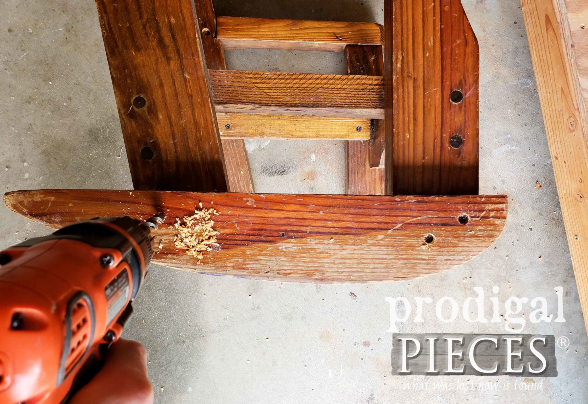 Repairing Vintage Child's Rocking Chair by Prodigal Pieces | prodigalpieces.com