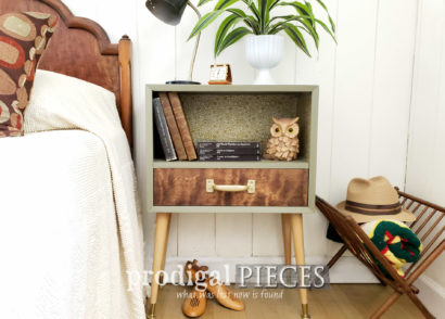 Featured Mid Century Modern Nightstand Created from a Curbside Find by Larissa of Prodigal Pieces | prodigalpieces.com