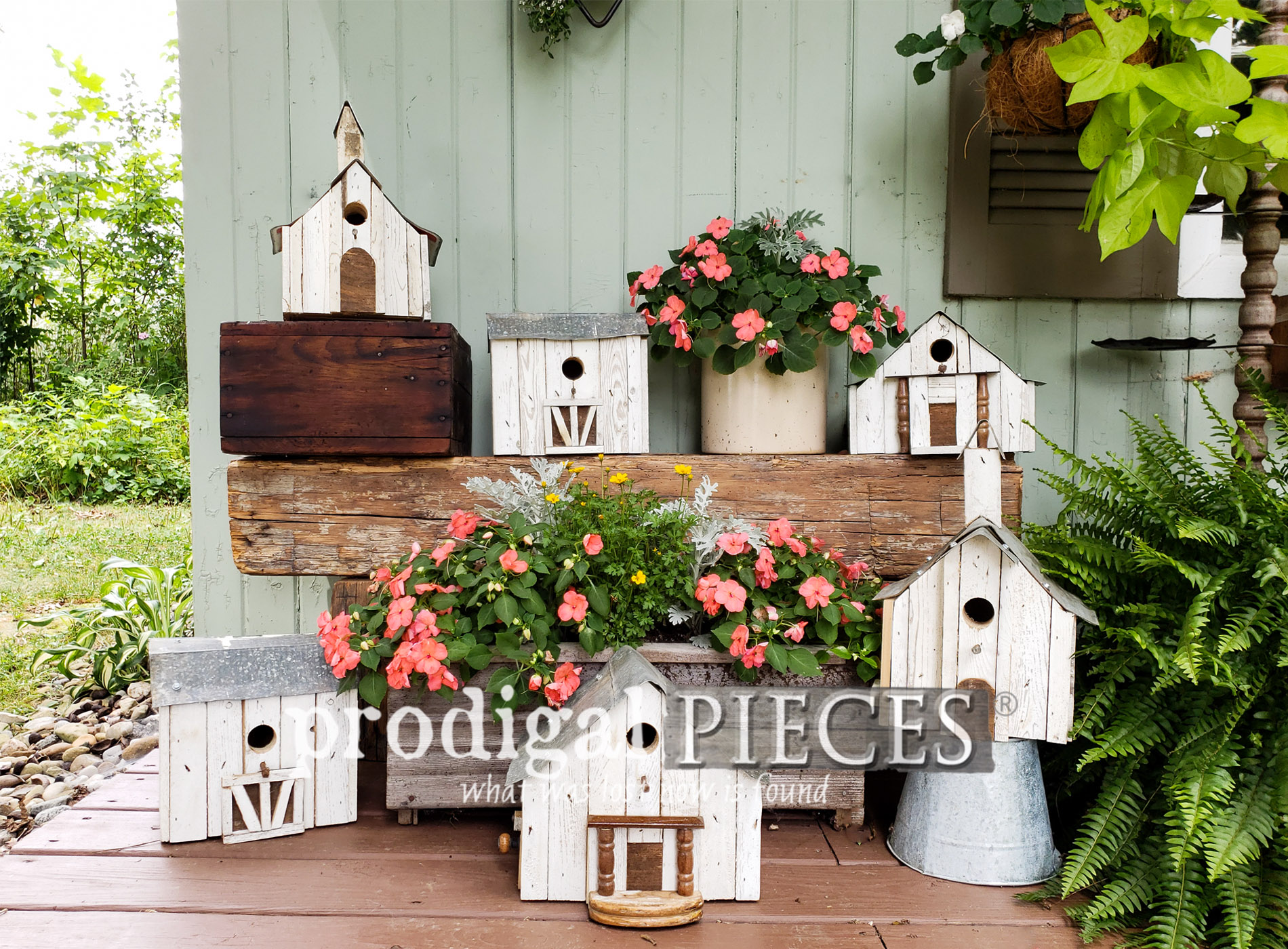Featured Salvaged Junk Birdhouses created by Larissa of Prodigal Pieces | prodigalpieces.com