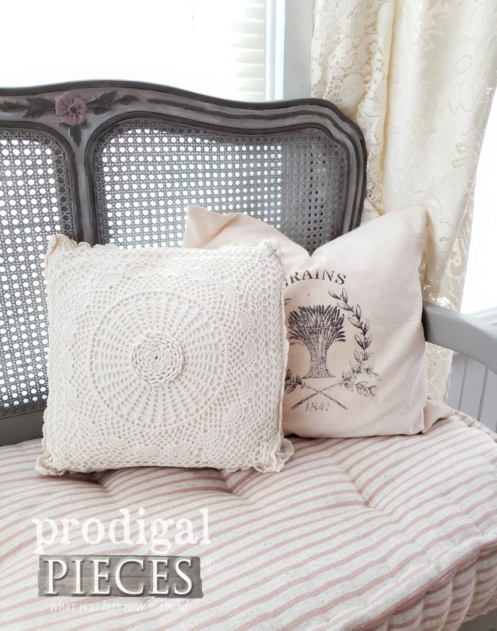 DIY Handmade French Grain Sack Pillow by Larissa of Prodigal Pieces | prodigalpieces.com