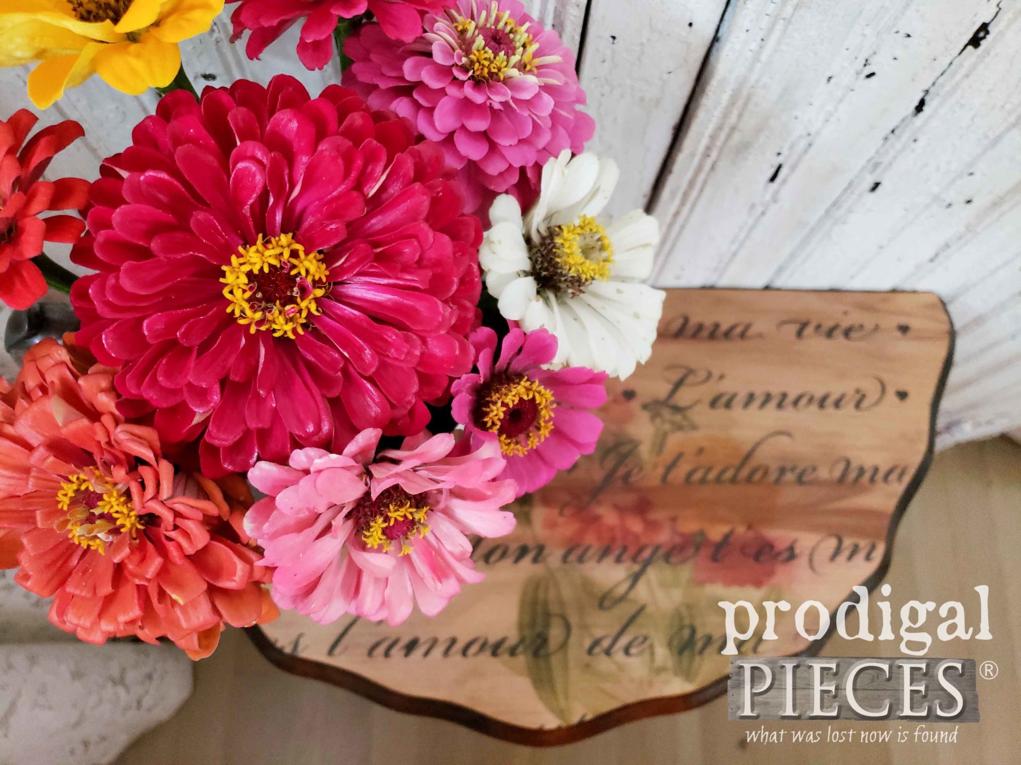 Fresh Picked Zinnia Bouquet from the Garden of Larissa of Prodigal Pieces | prodigalpieces.com