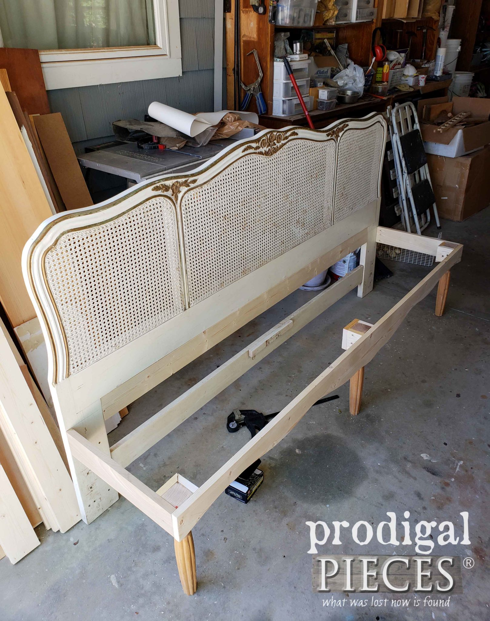 French Provincial Headboard Bench Frame by Larissa of Prodigal Pieces | prodigalpieces.com
