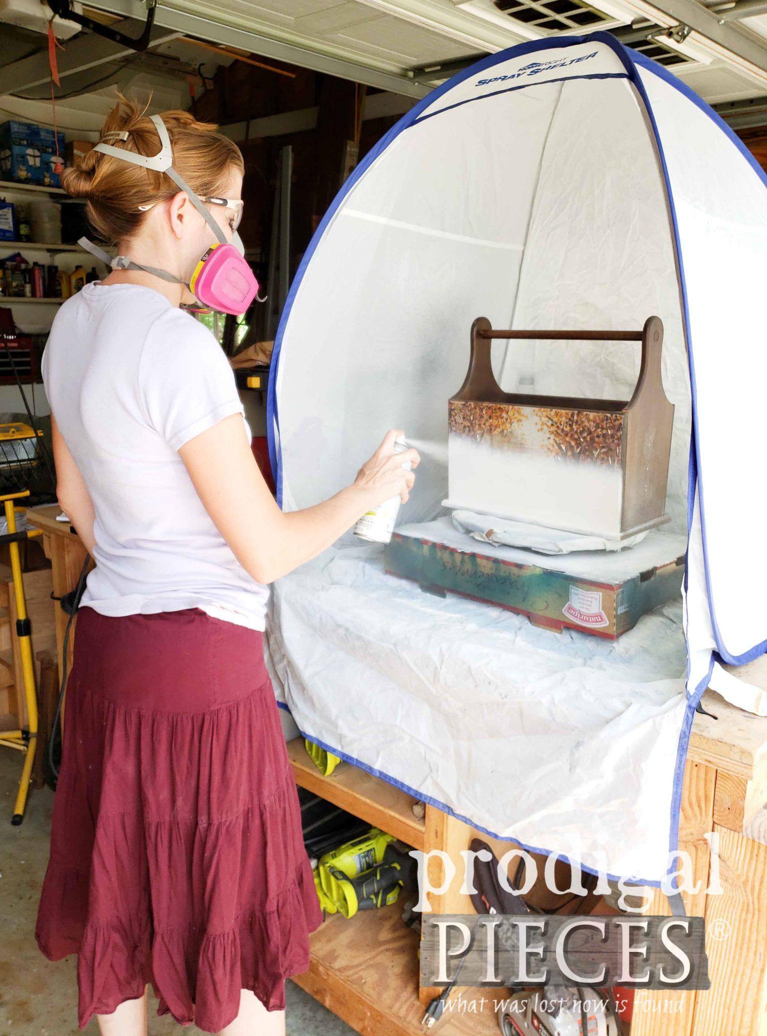 HomeRight Small Spray Shelter for Preventing Overspray Problems | prodigalpieces.com