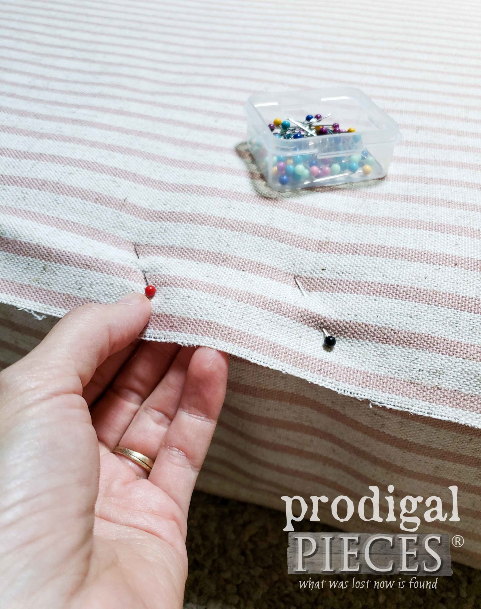 Pinning Upholstery for Fitting | prodigalpieces.com