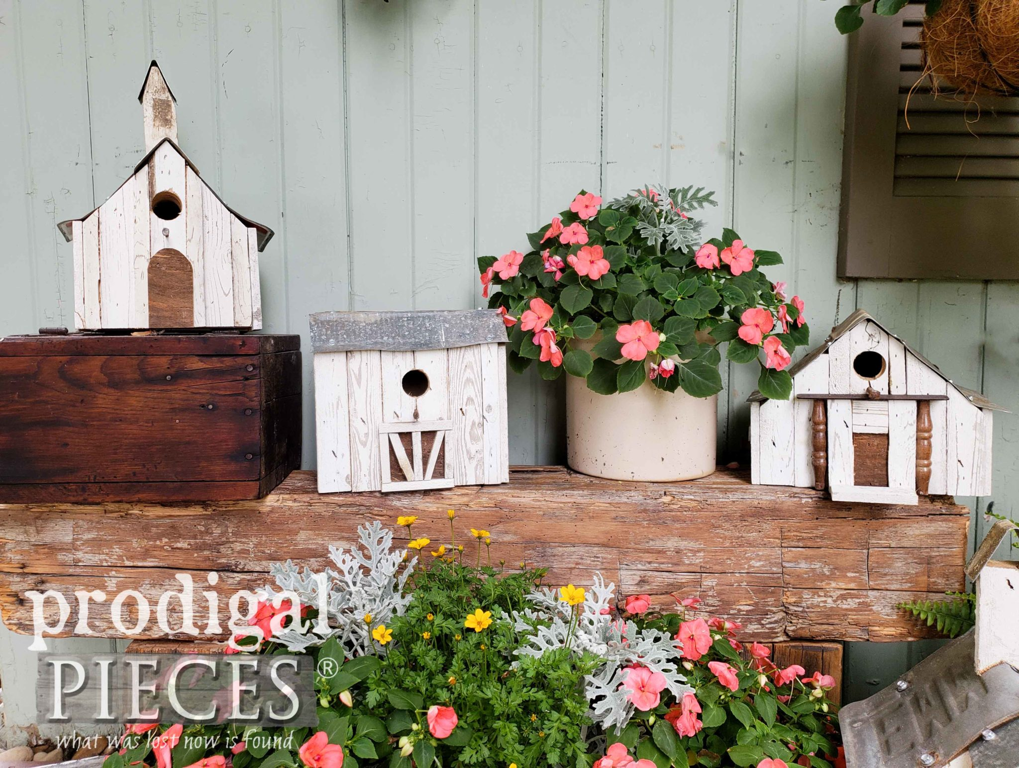 Reclaimed Birdhouse Collection Handmade by Larissa of Prodigal Pieces | prodigalpieces.com