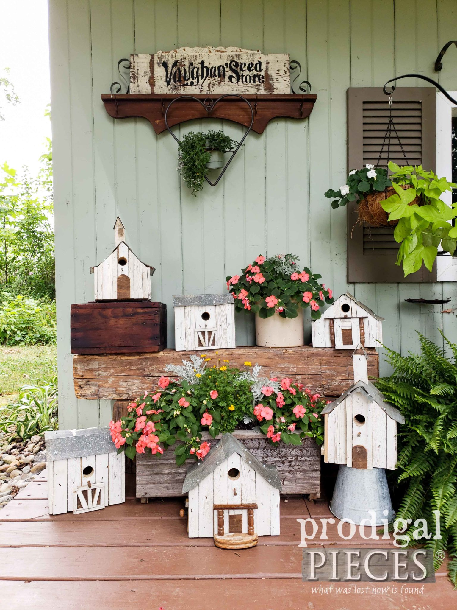 Handmade Repurposed Salvaged Junk Birdhouse Collection by Larissa of Prodigal Pieces | prodigalpieces.com