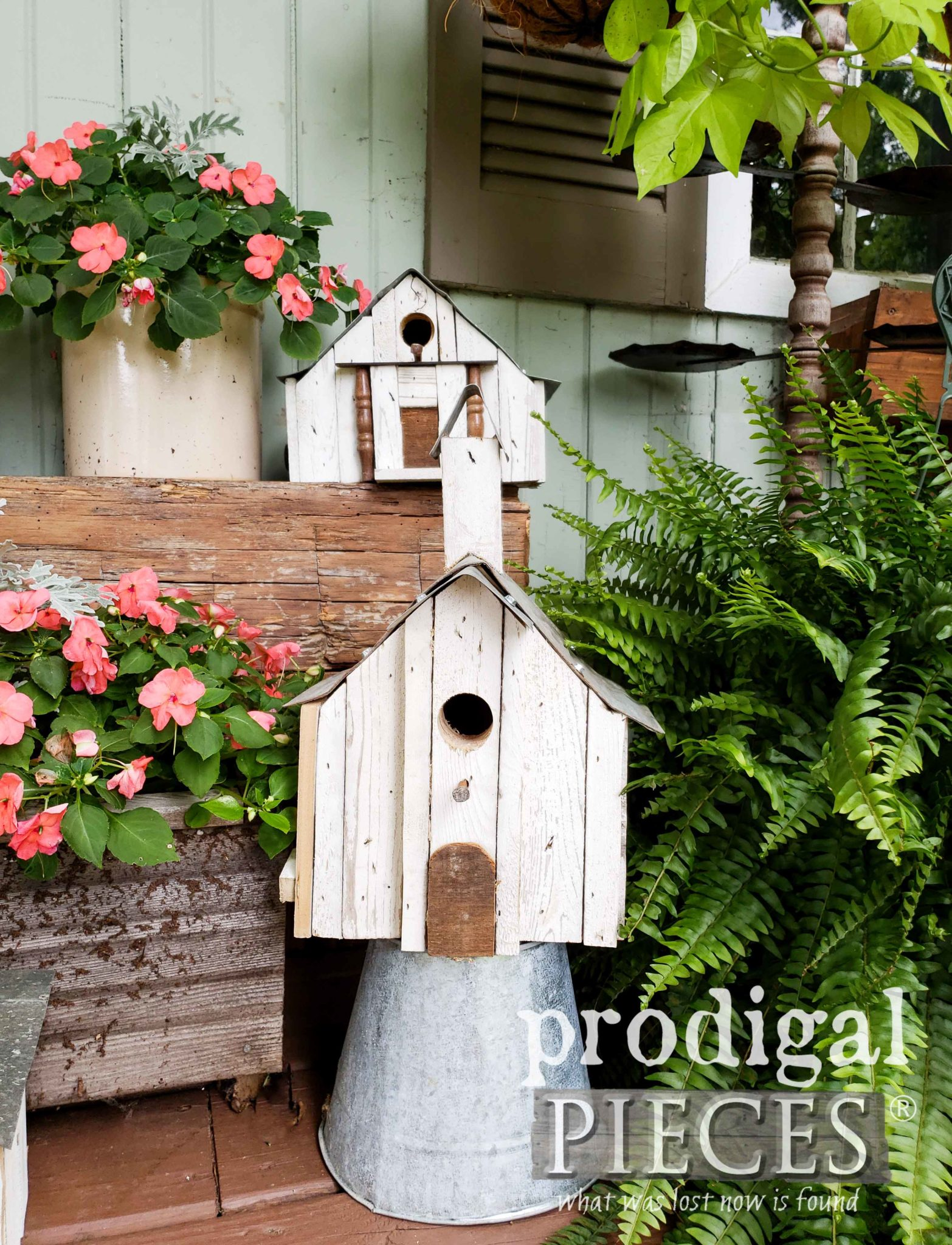 Rustic Farmhouse Church Birdhouse by Larissa of Prodigal Pieces | prodigalpieces.com