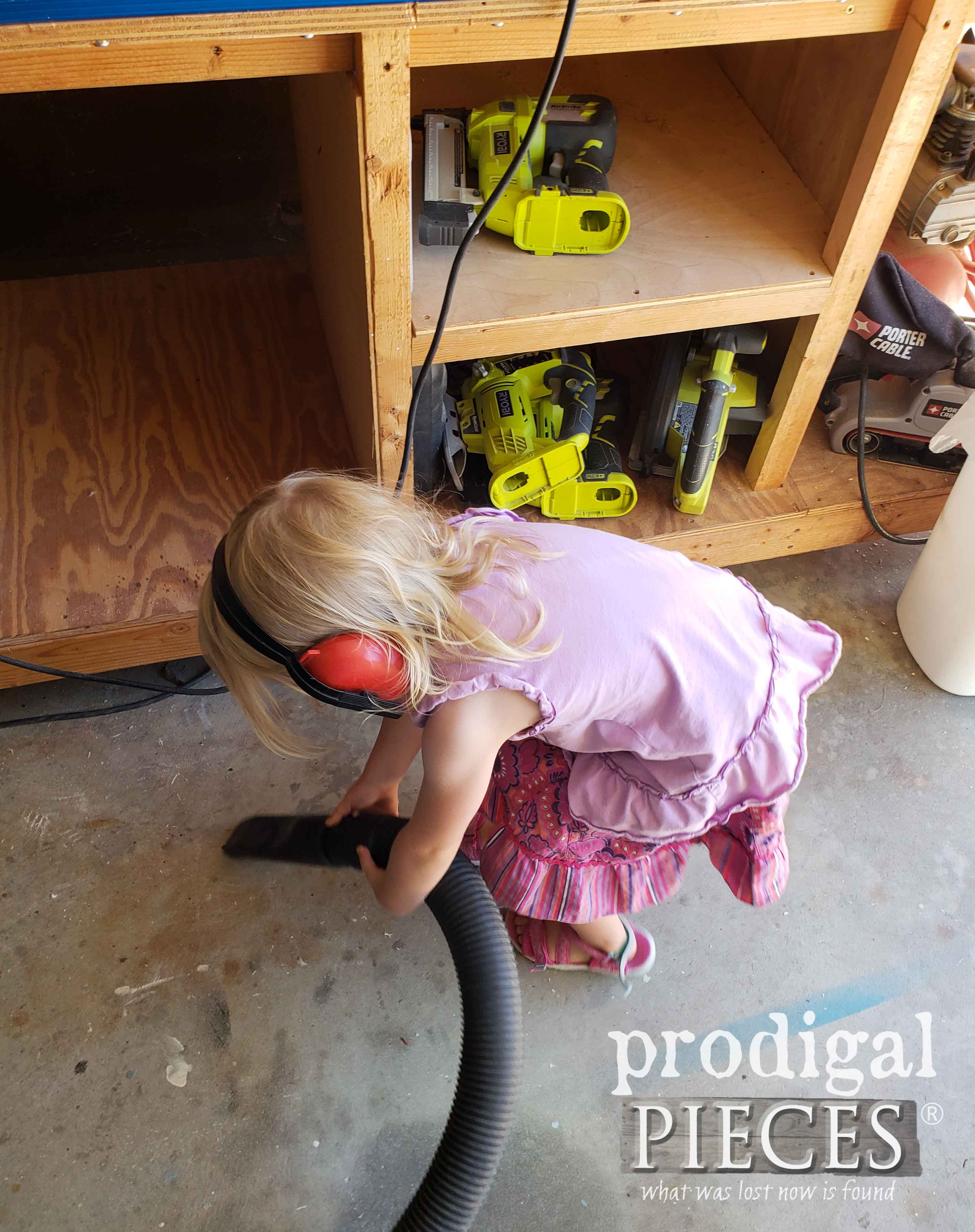 Toddler Cleaning Workshop with Shop Vacuum | prodigalpieces.com