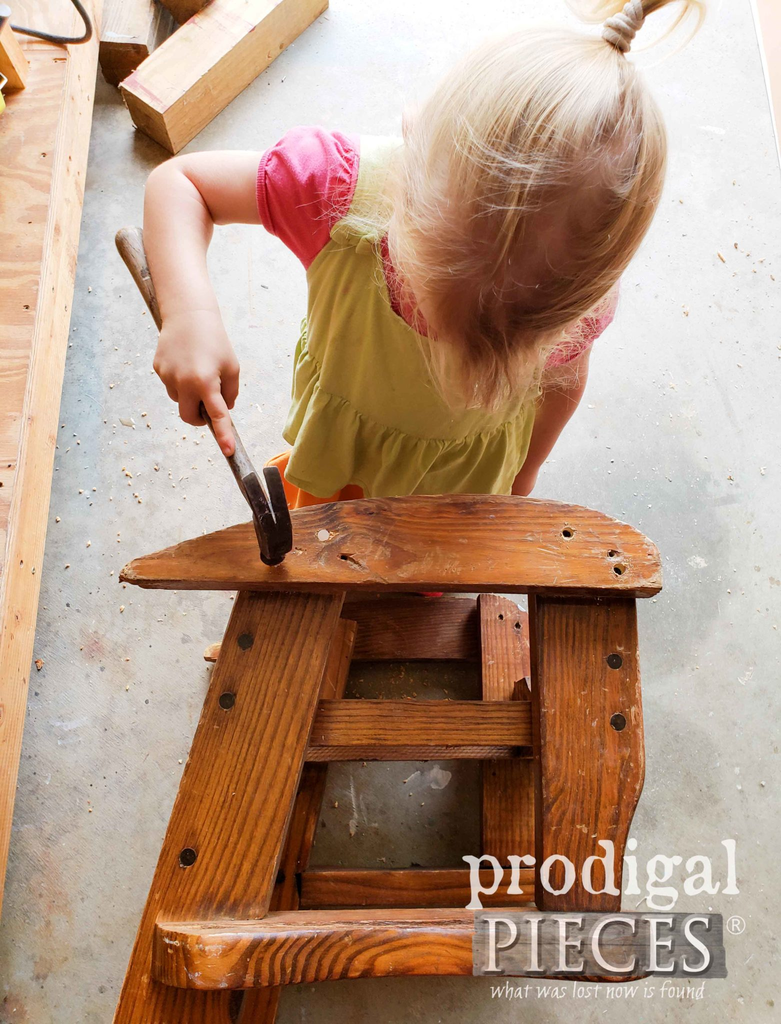 Toddler Helping Mama with Furniture | Prodigal Pieces | prodigalpieces.com