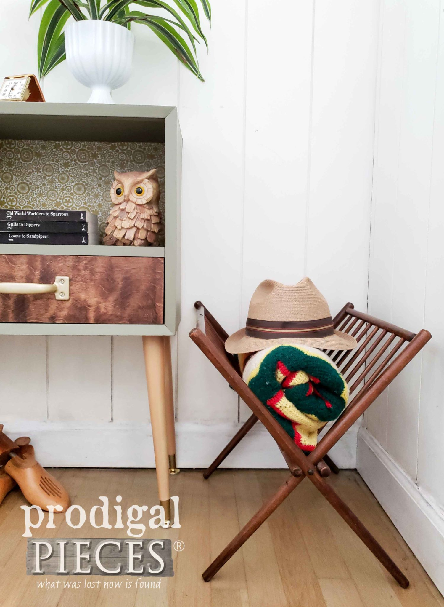 Vintage Mid Century Magazine Rack by Prodigal Pieces | prodigalpieces.com