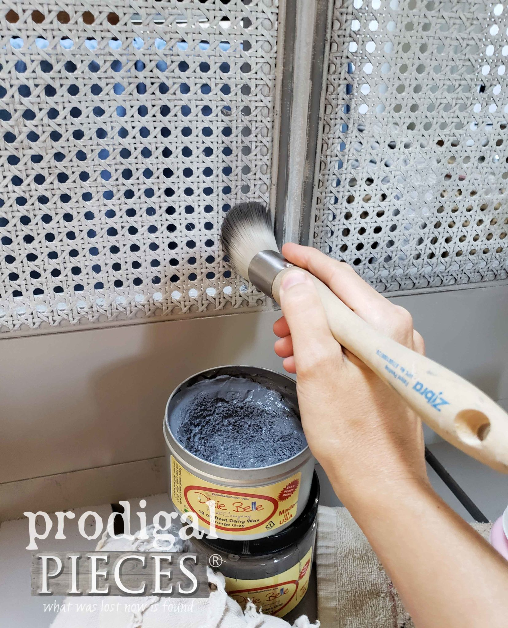 Zibra Round Brush to Wax Furniture Accents by Prodigal Pieces | prodigalpieces.com