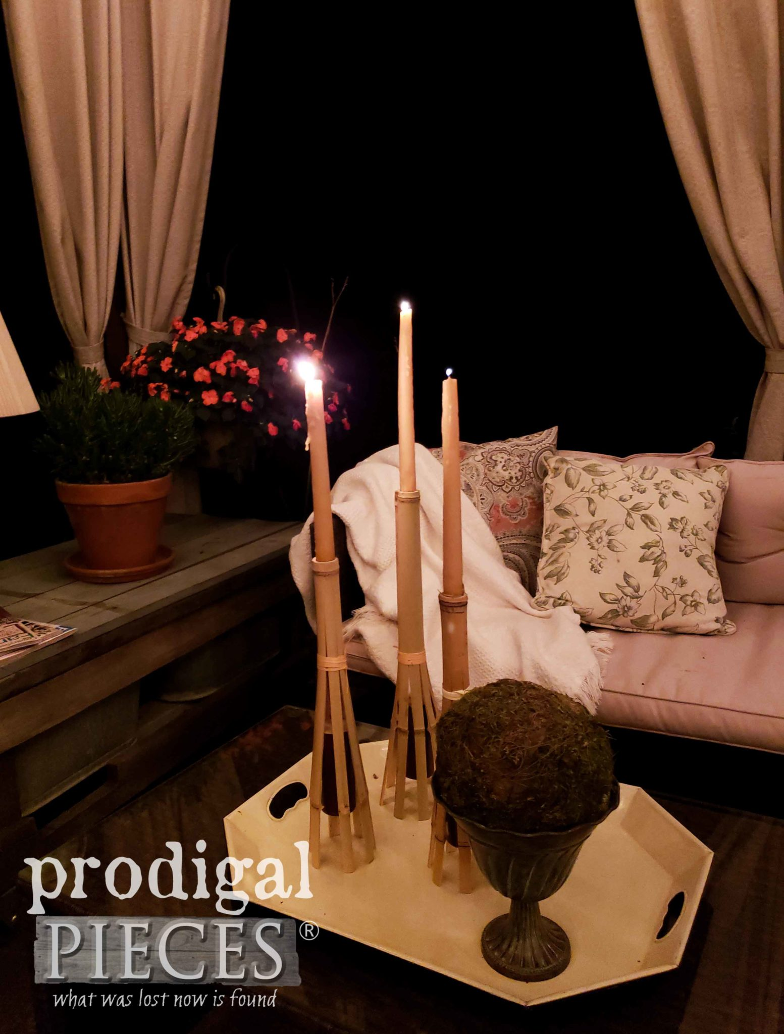 Bamboo Candlesticks with DIY Tutorial by Larissa of Prodigal Pieces | prodigalpieces.com