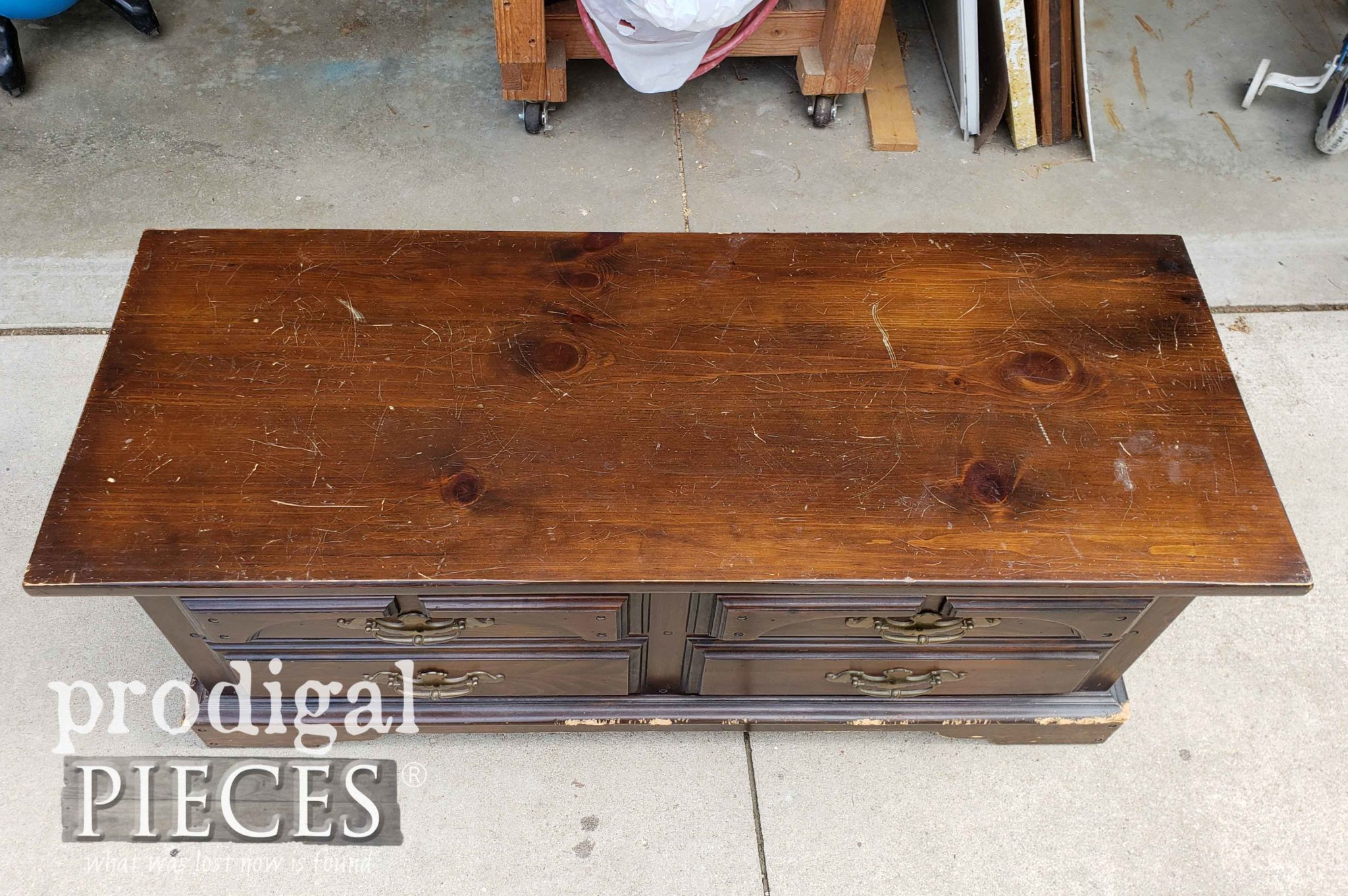 Vintage Blanket Chest Top | prodigalpieces.com