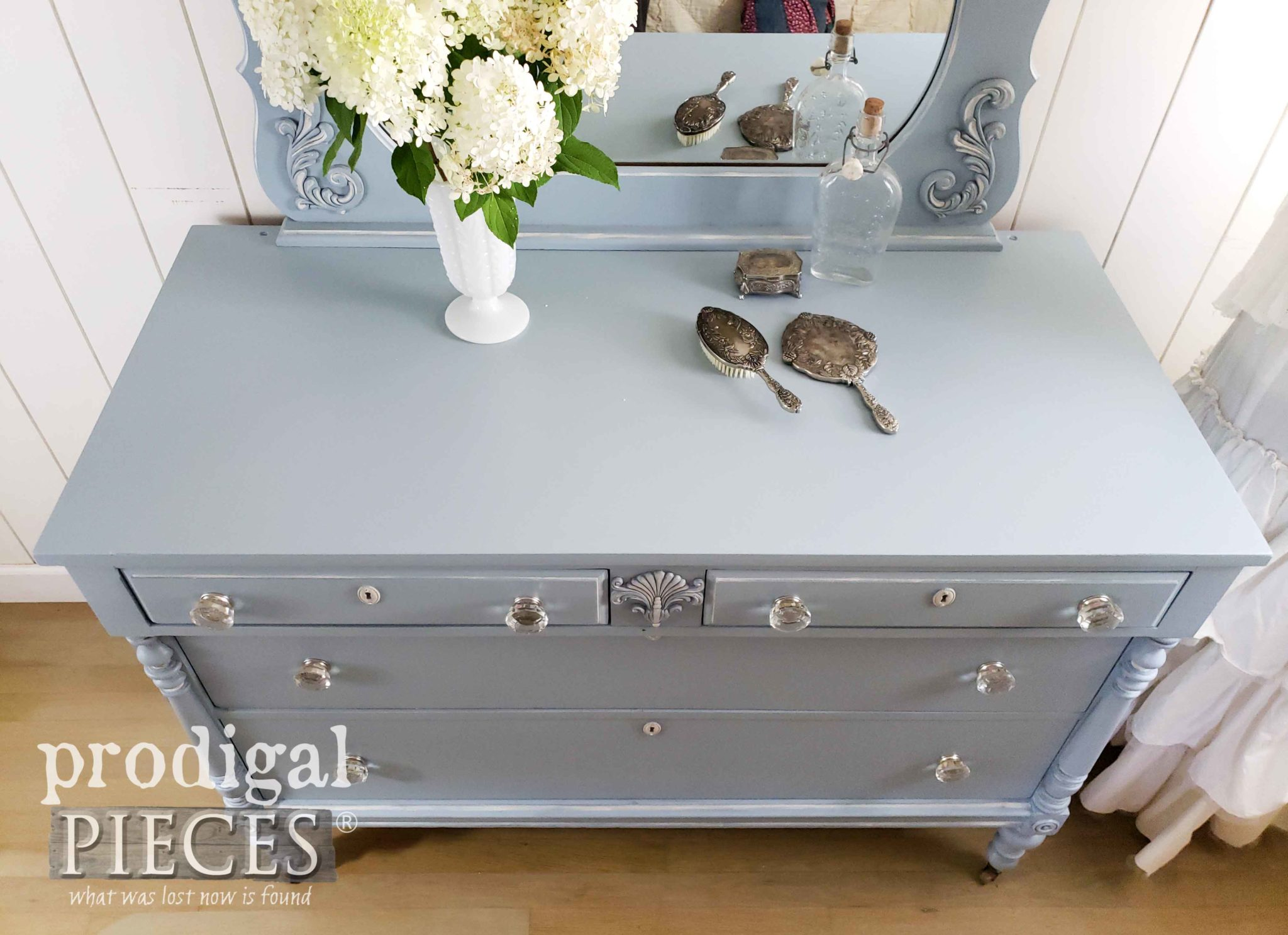 Soft Blue Vintage Dresser Made New by Prodigal Pieces | prodigalpieces.com