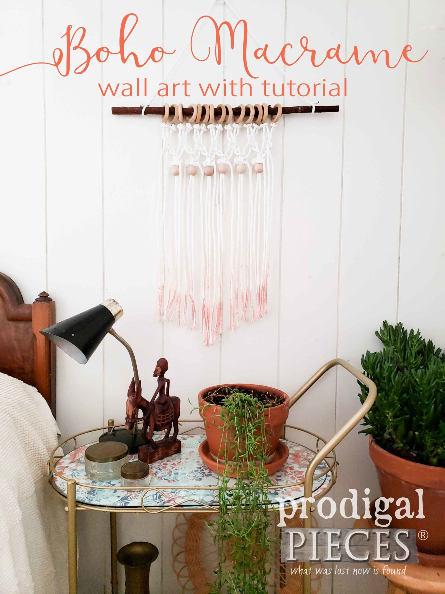 Create this beautiful ombre macrame wall art with this step-by-step tutorial by Larissa of Prodigal Pieces | prodigalpieces.com #prodigalpieces #home #homedecor #homedecorideas #handmade #midcenturymodern #boho